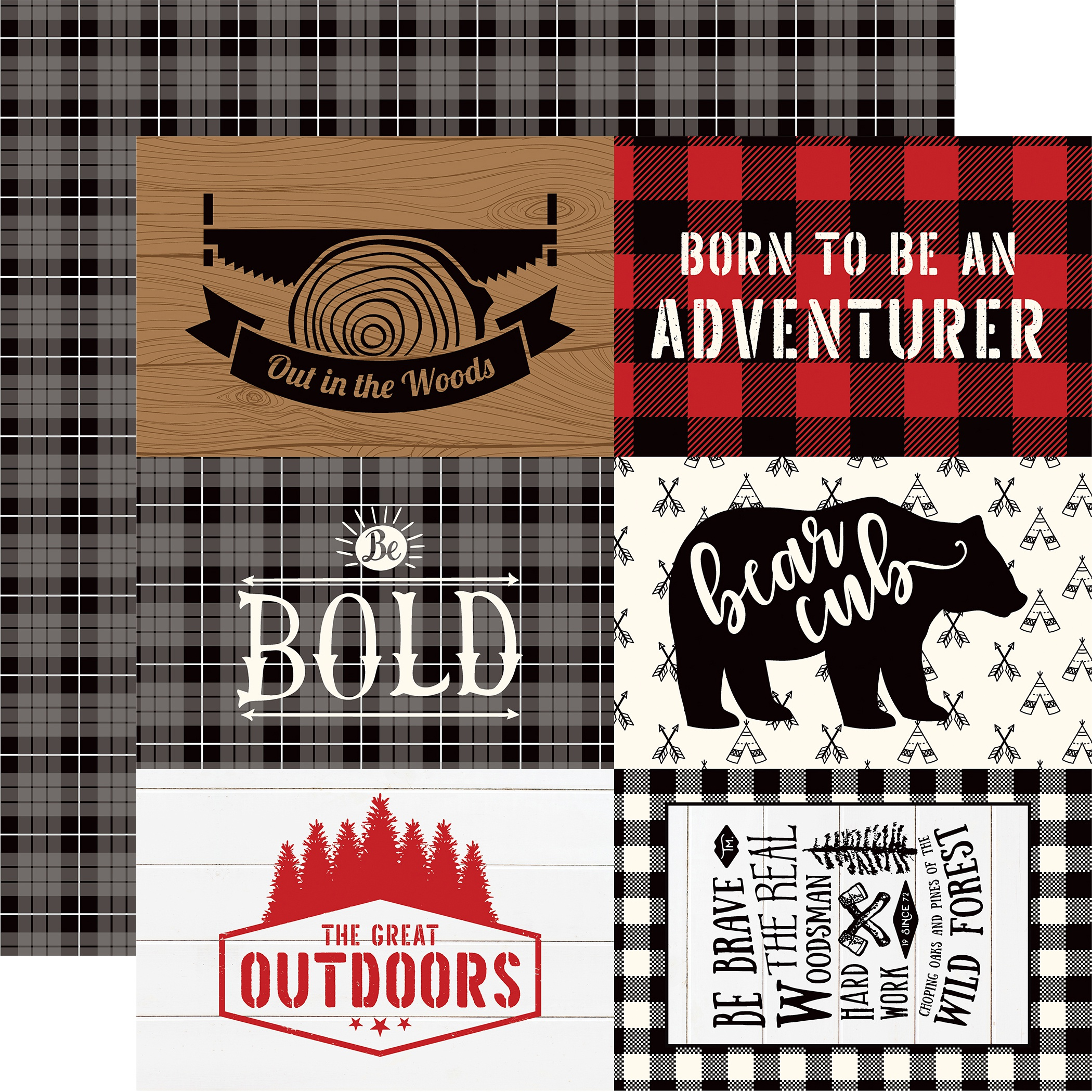 Little Lumberjack Double-Sided Cardstock 12X12-4X6 Journaling Cards