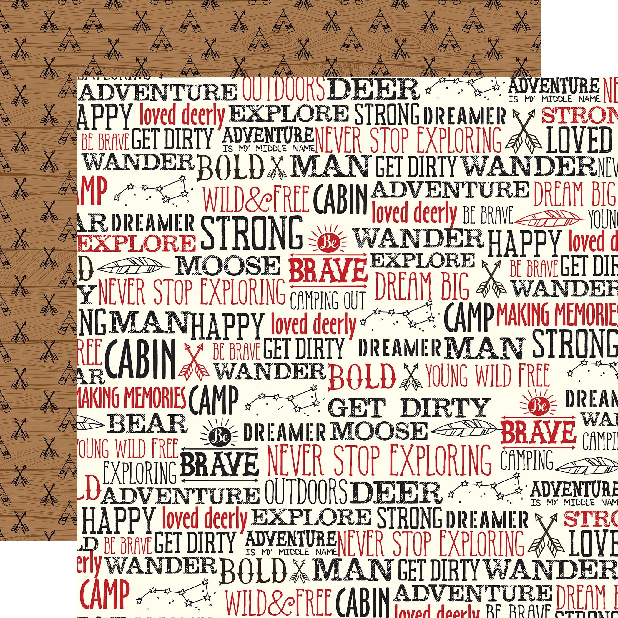 Little Lumberjack Double-Sided Cardstock 12X12-Wander Words