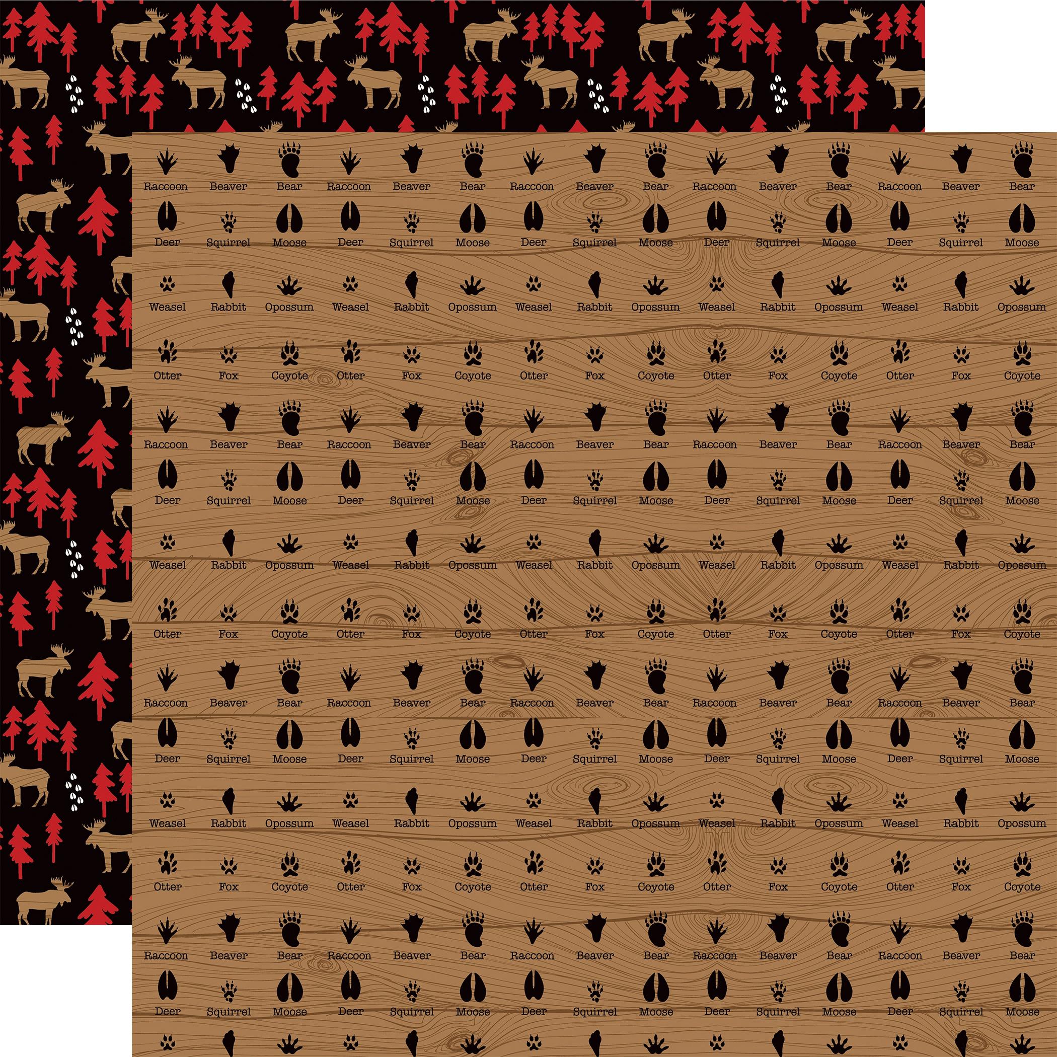 Little Lumberjack Double-Sided Cardstock 12X12-Animal Tracks