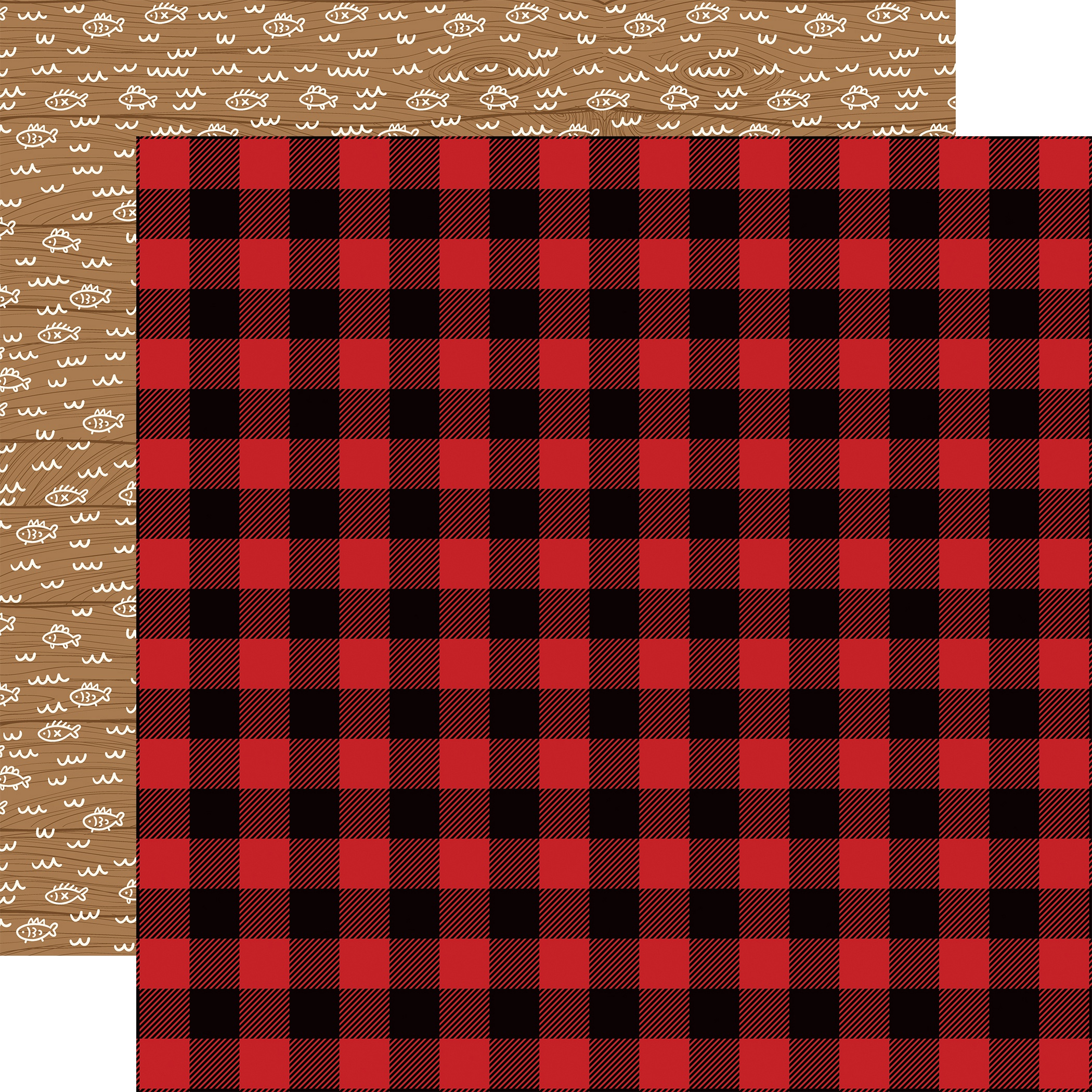 Little Lumberjack Double-Sided Cardstock 12X12-Buffalo Plaid