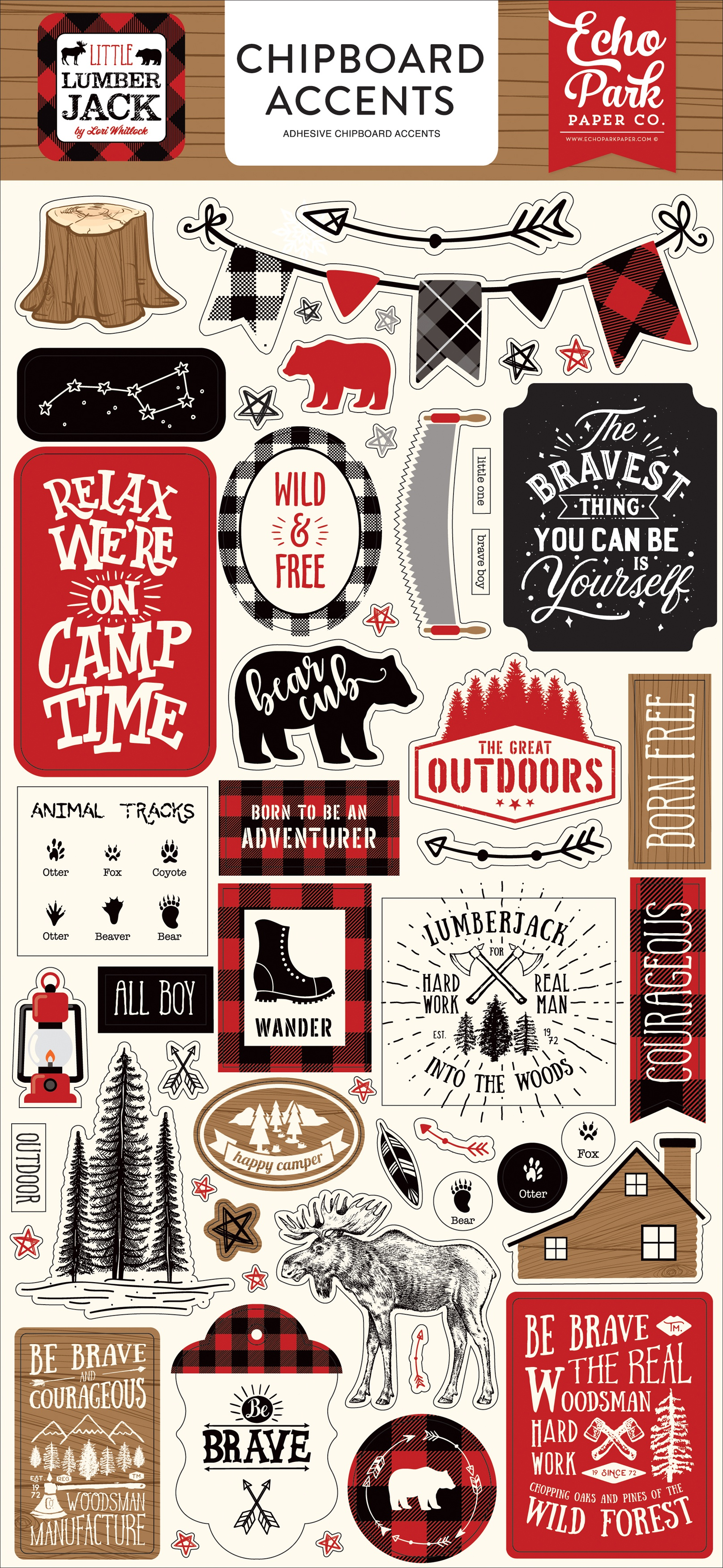 Little Lumberjack Chipboard 6X13-Accents