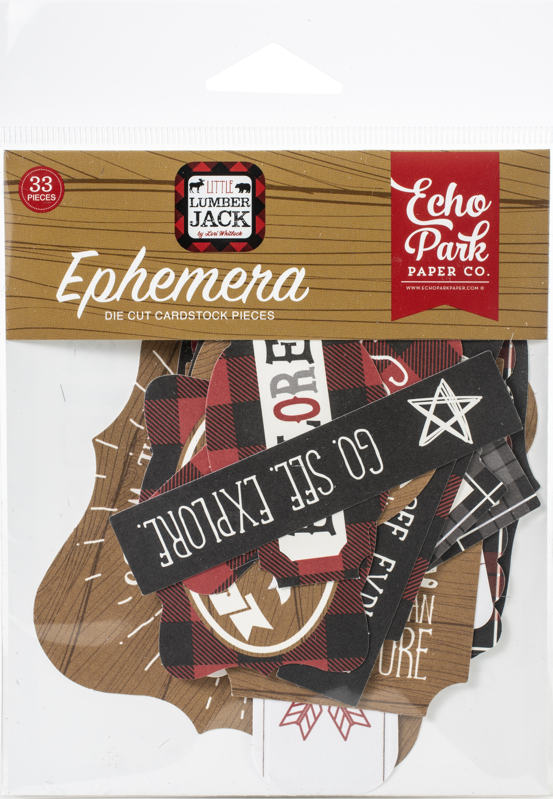 Echo Park Cardstock Ephemera 33/Pkg-Icons, Little Lumberjack