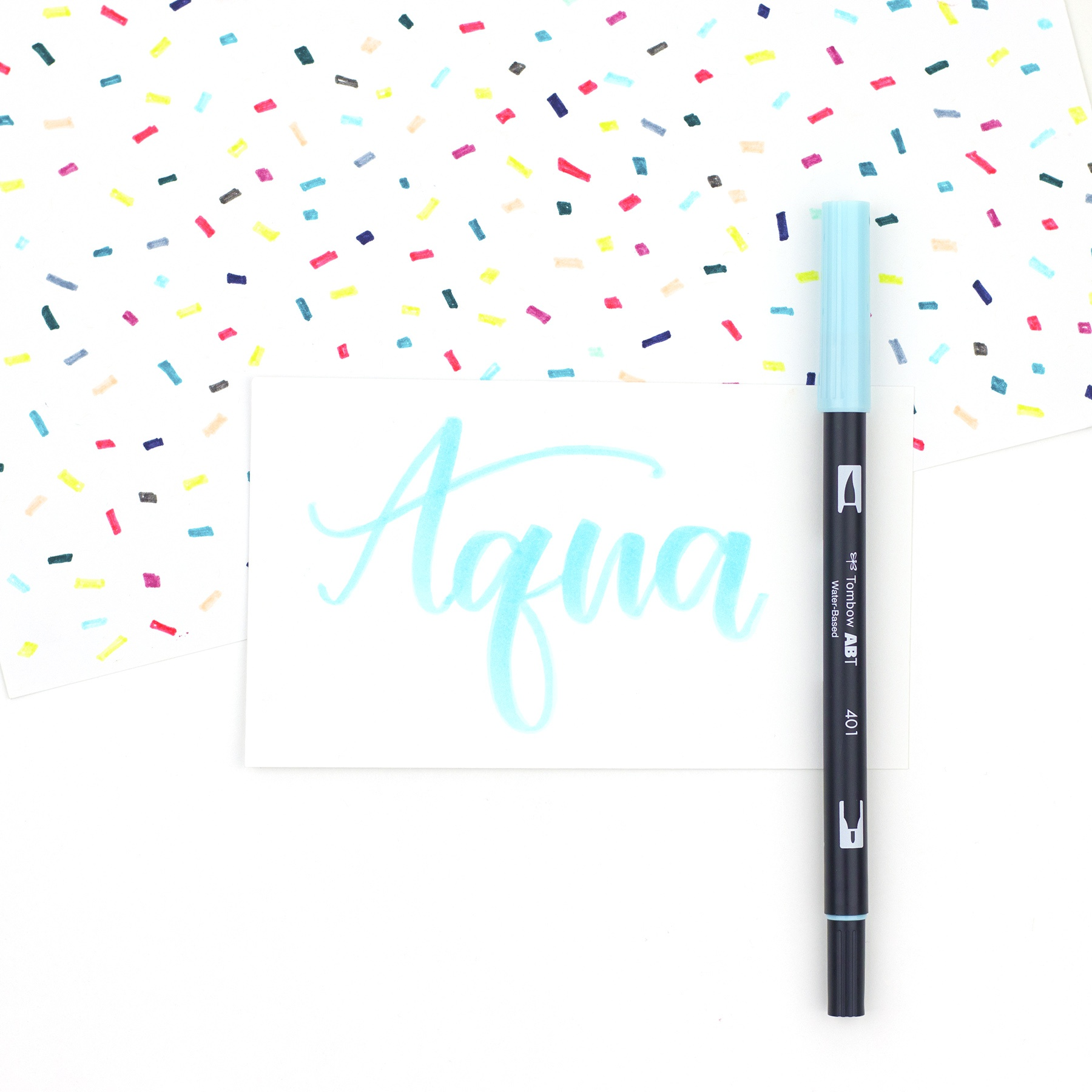 Tombow Dual Brush Marker Open Stock-Aqua