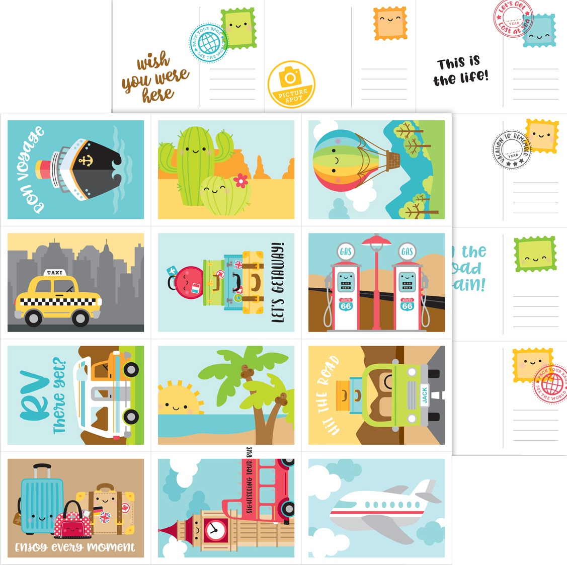 I Heart Travel Double-Sided Cardstock 12X12-Wish You Were Here