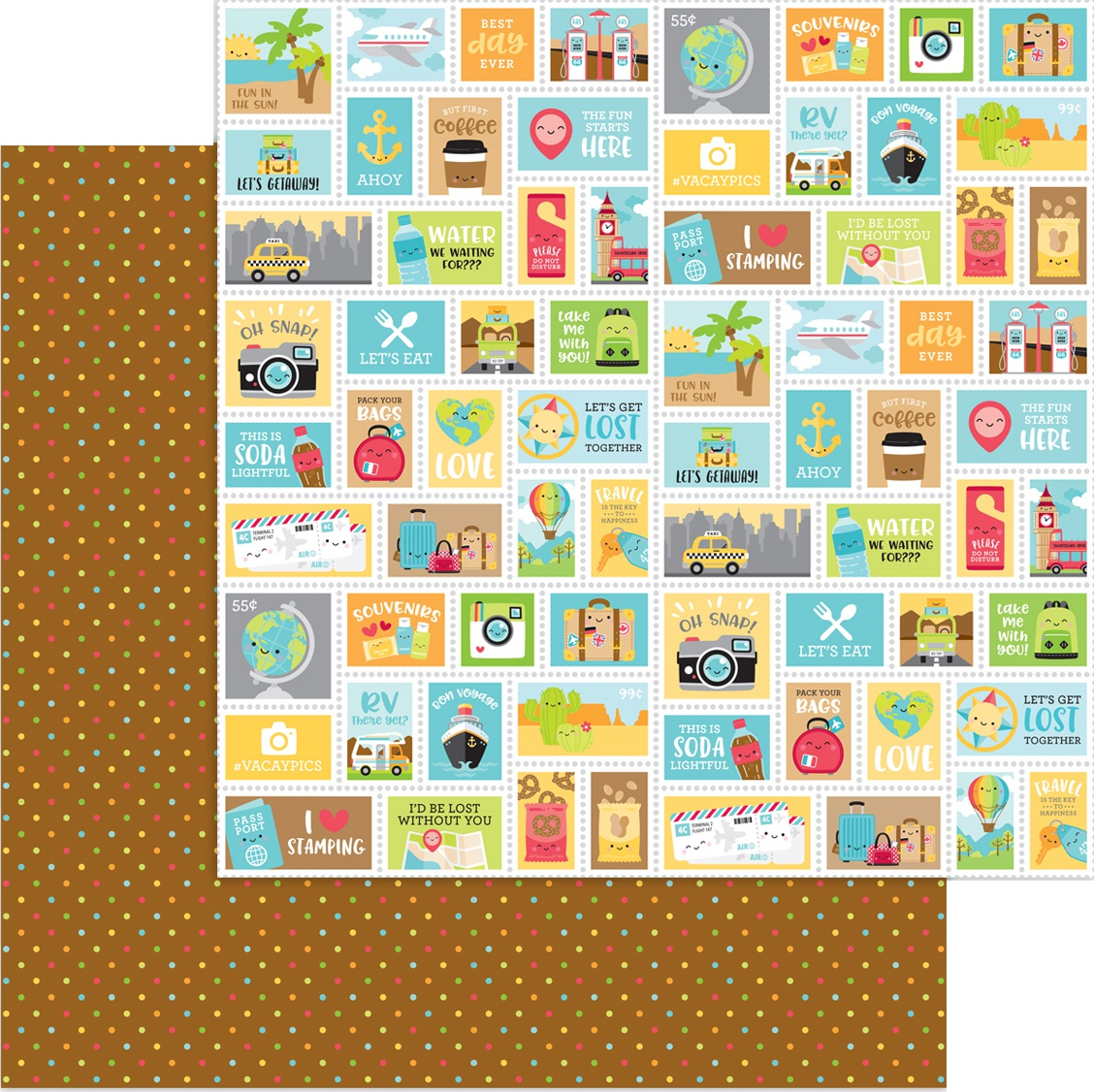 Doodlebug I Heart Travel - Scenic Spot - 12x12 Double-Sided Paper