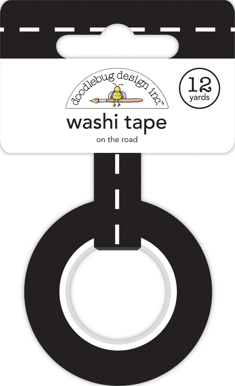 Doodlebug Washi Tape 15mmX12yd-On The Road, I Heart Travel