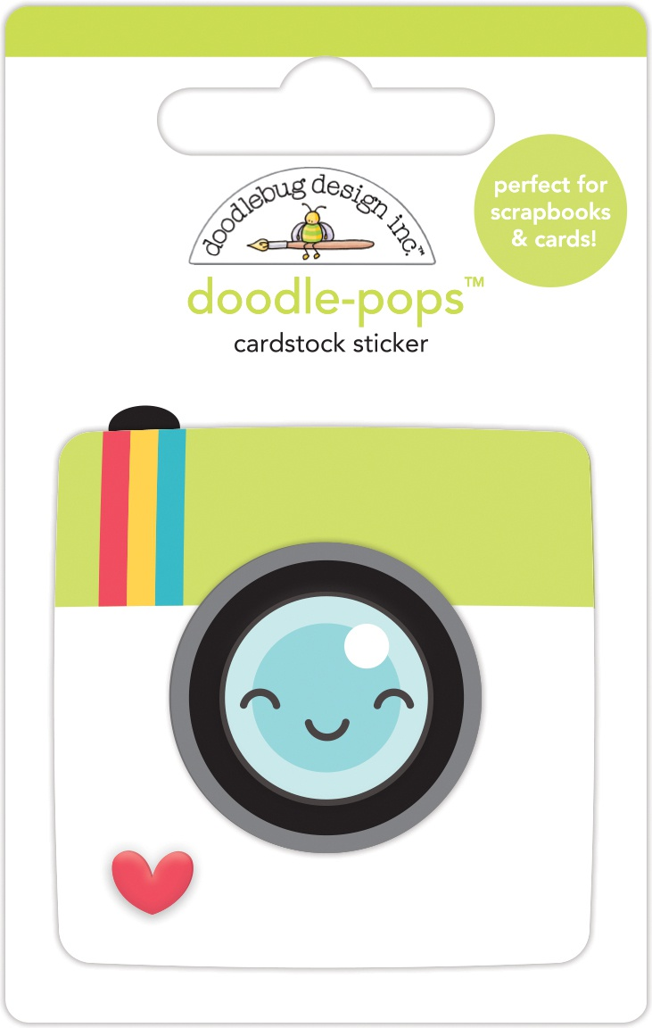 Doodlebug Doodle-Pops 3D Stickers-Picture Perfect, I Heart Travel