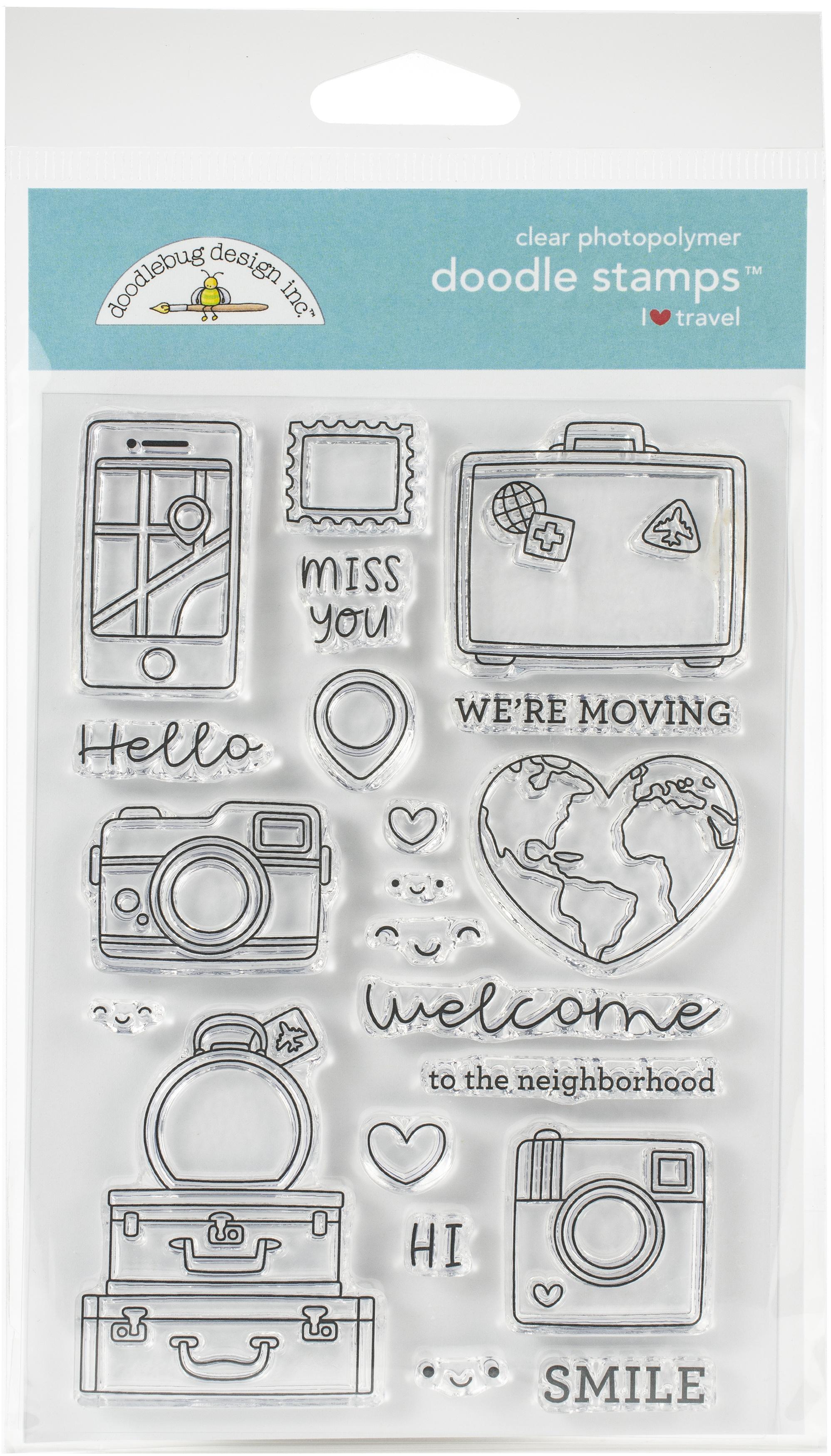 Doodlebug I Heart Travel - Stamps