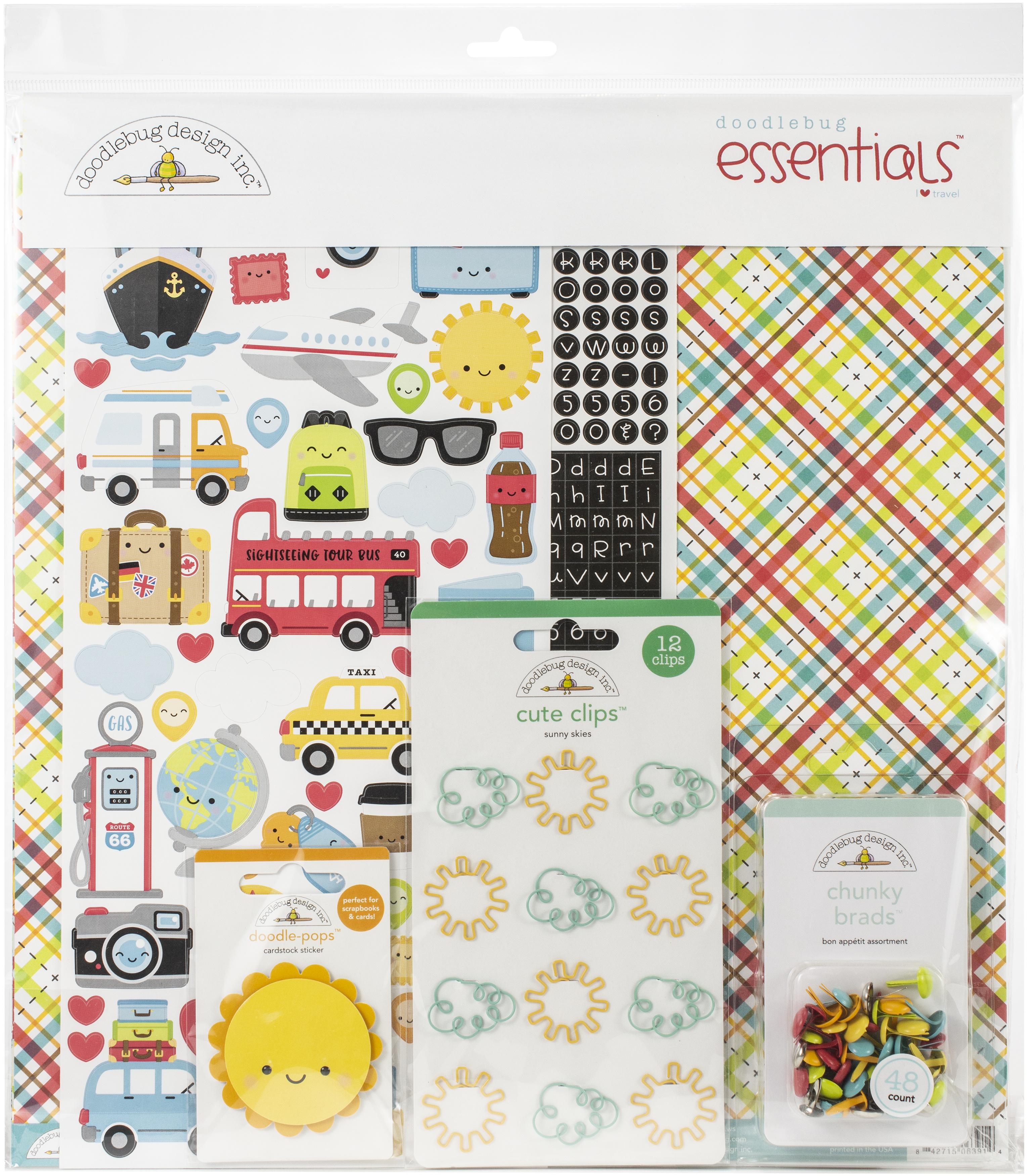 Doodlebug Essentials Page Kit 12X12-I Heart Travel