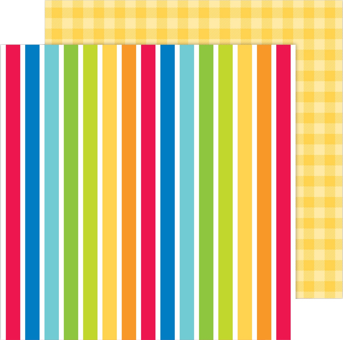 School Days Double-Sided Cardstock 12X12-Very Primary