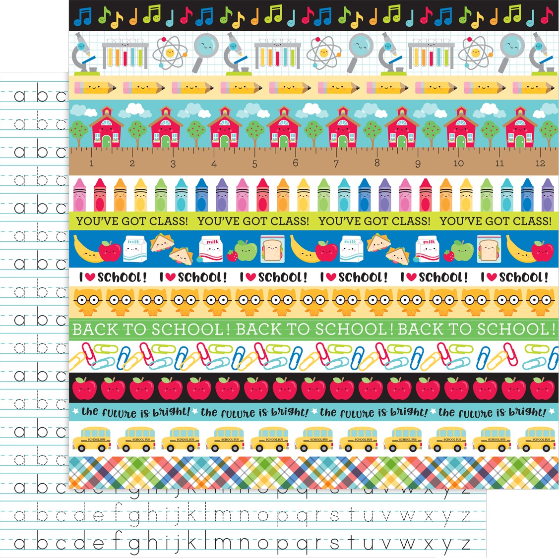 School Days Double-Sided Cardstock 12X12-Just Write