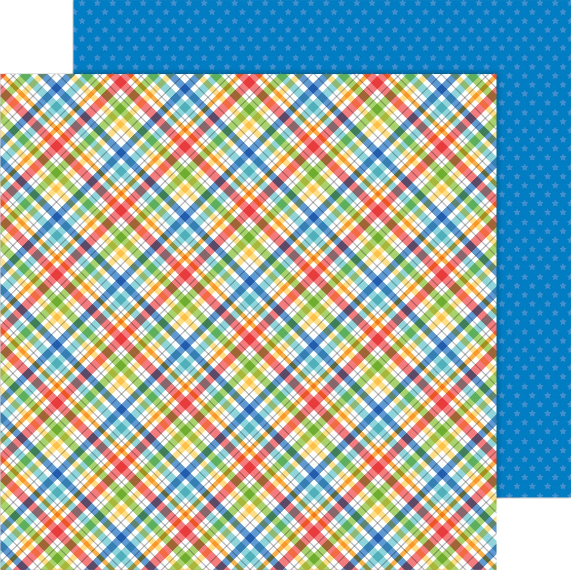 School Days Double-Sided Cardstock 12X12-Playground Plaid