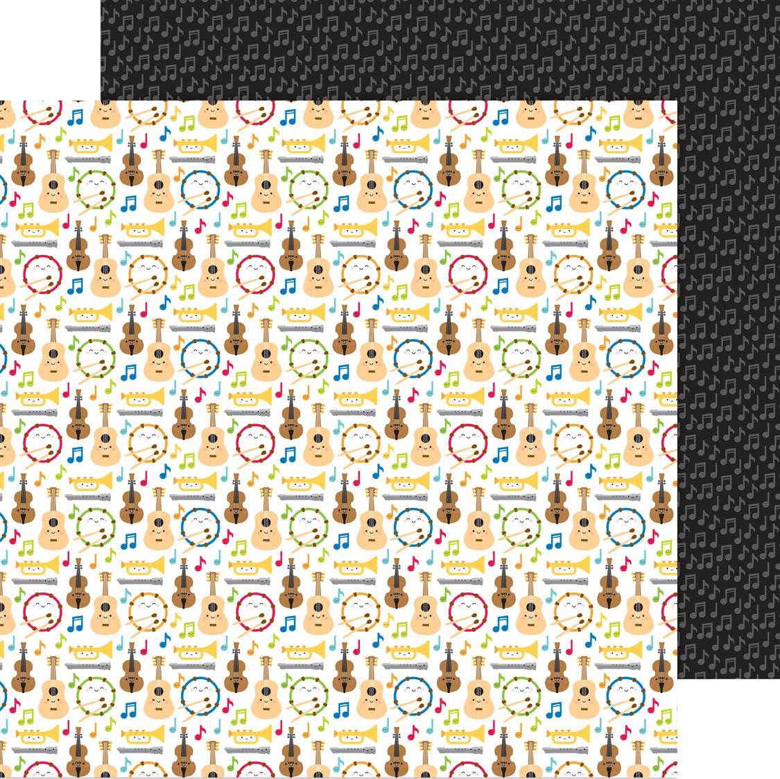 School Days Double-Sided Cardstock 12X12-Band Class