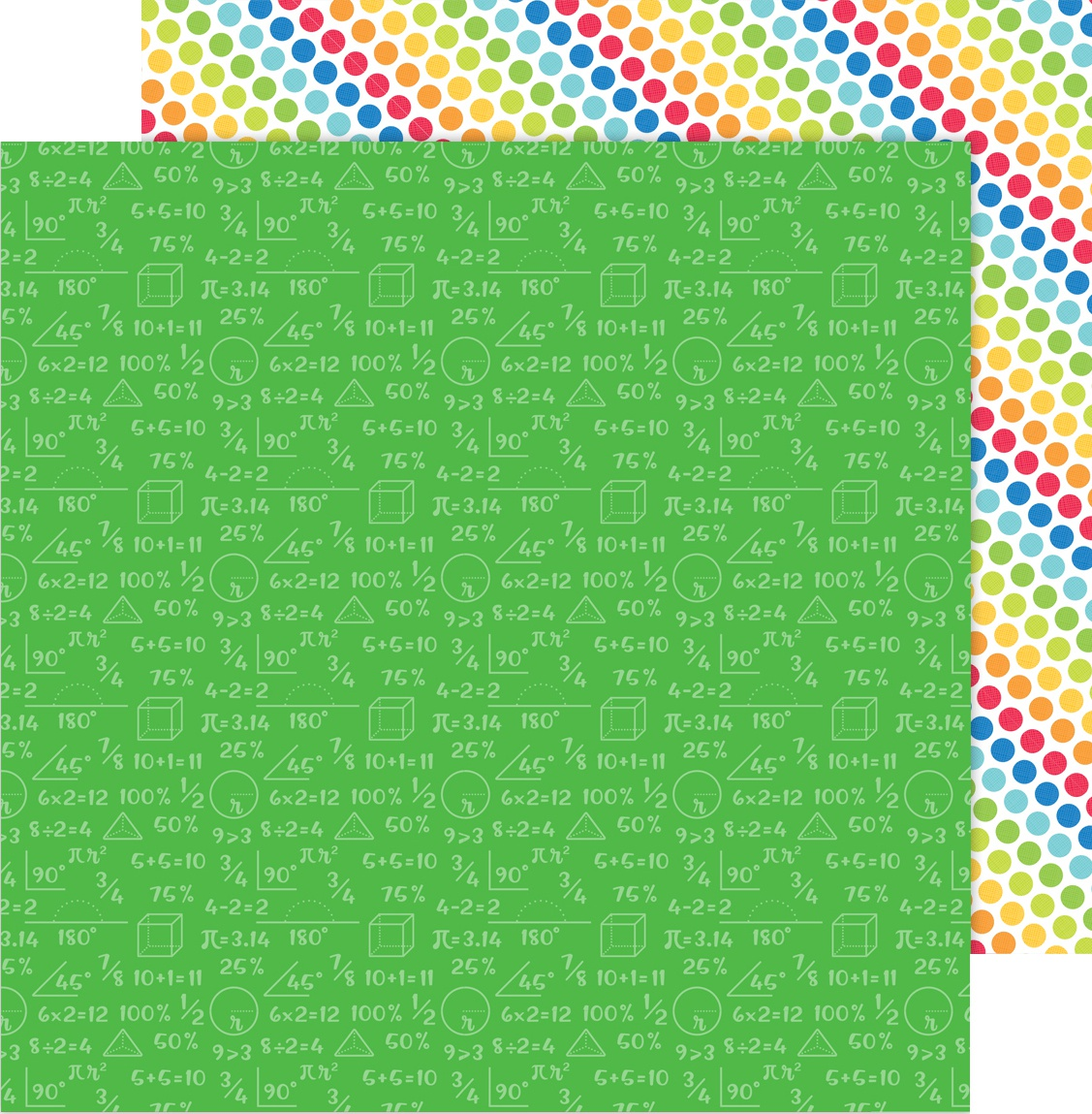 School Days Double-Sided Cardstock 12X12-Arithmetic