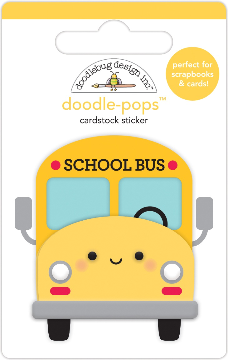 Doodlebug Doodle-Pops 3D Stickers-School Bus, School Days