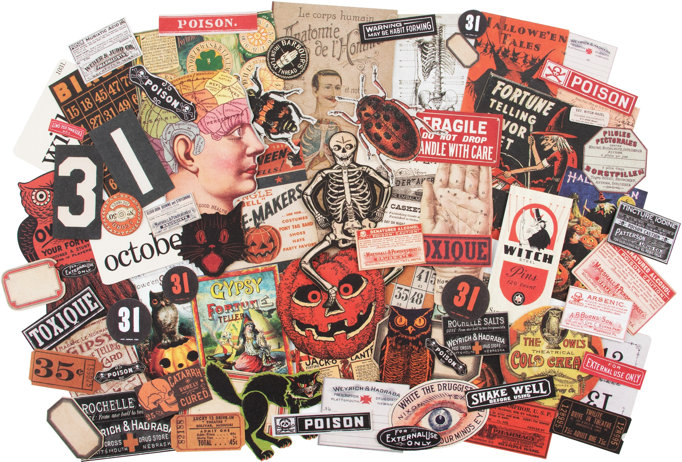 Idea-Ology Ephemera Pack 82/Pkg-Halloween