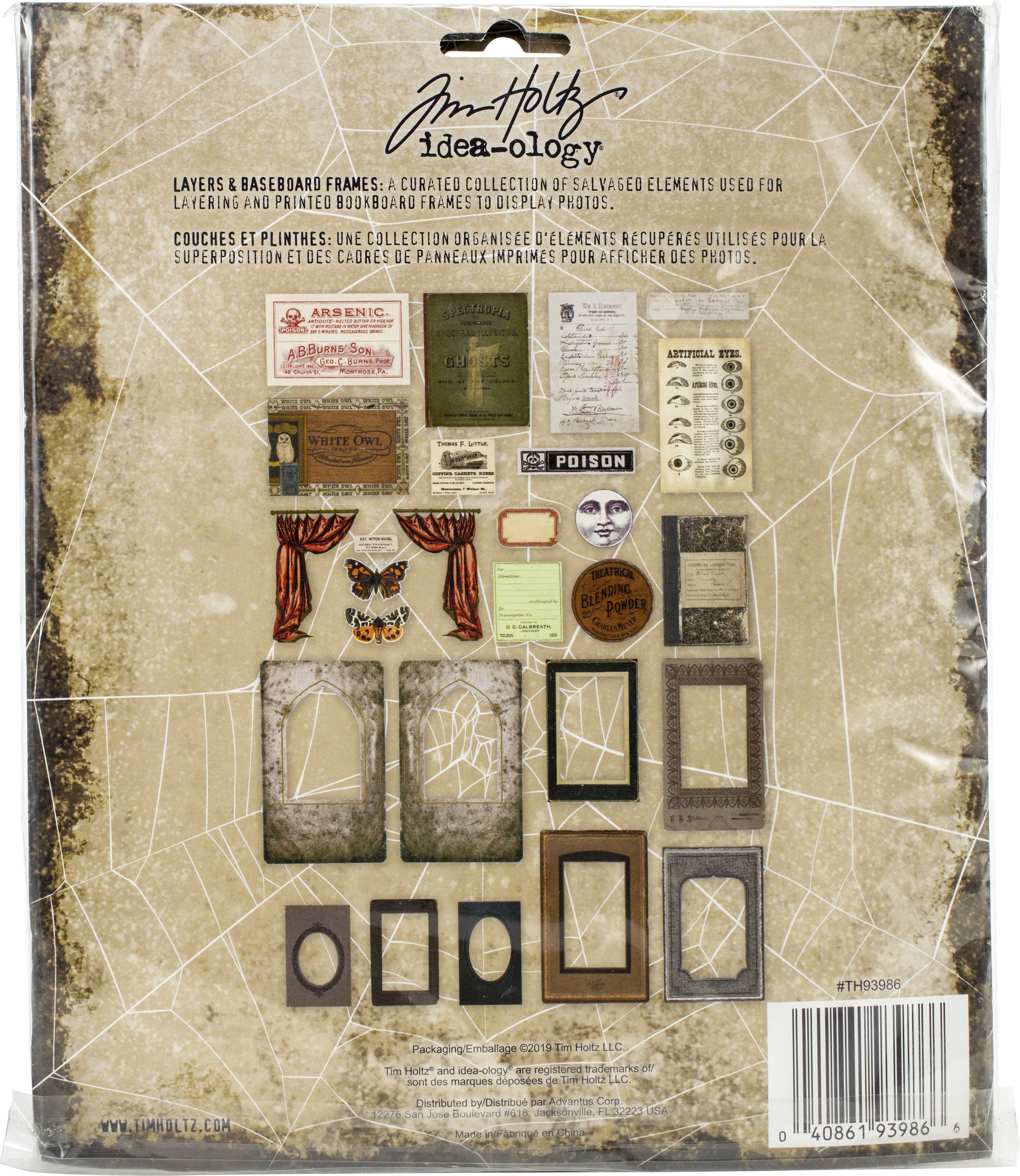 Idea-Ology Layers & Baseboard Frames 27/Pkg-Halloween