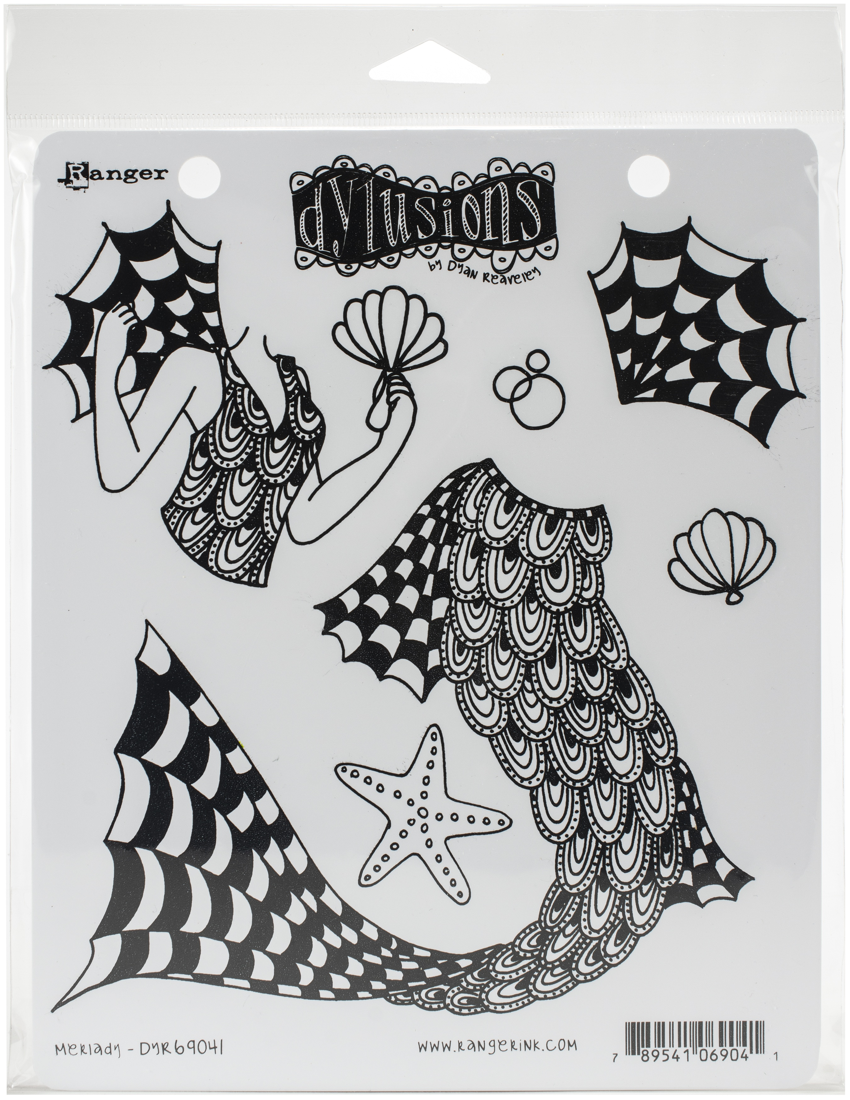 Dyan Reaveley's Dylusions Cling Stamp Collections 8.5X7-Merlady