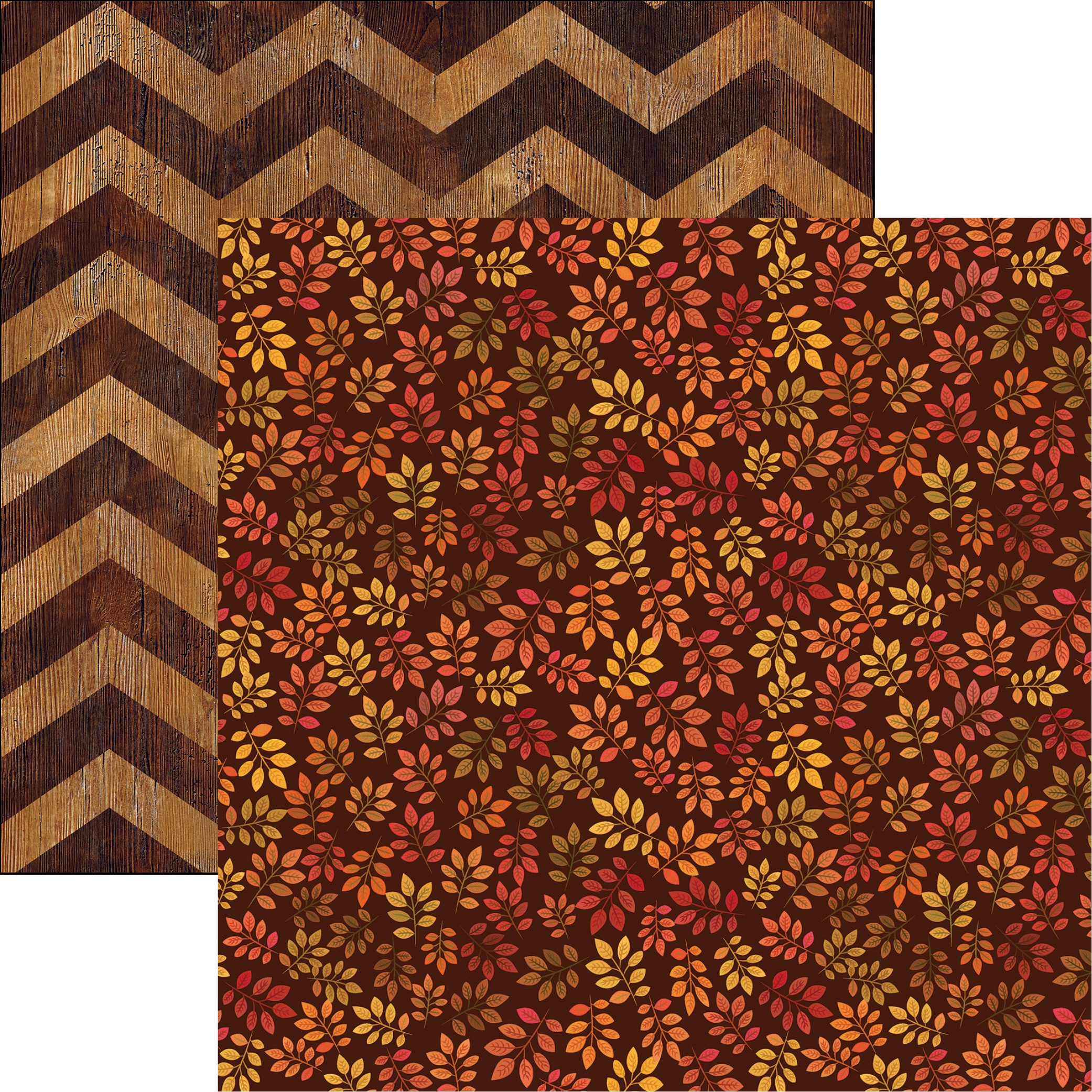 Fall Rustica Double-Sided Cardstock 12X12-Rustic Leaves