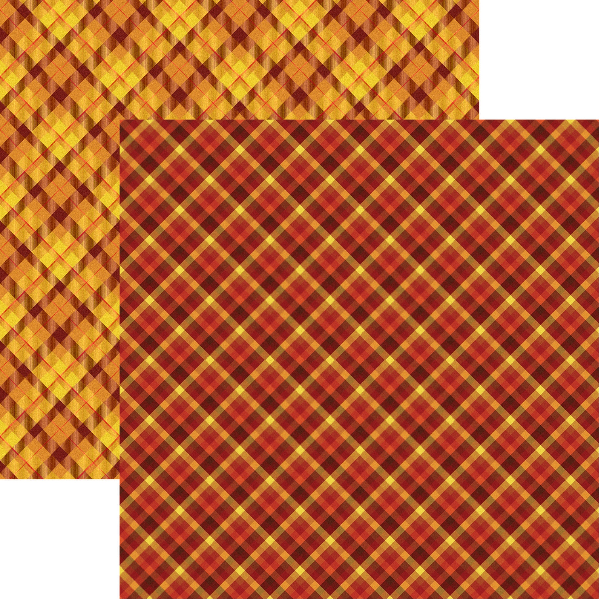 Fall Rustica Double-Sided Cardstock 12X12-Fall Plaid