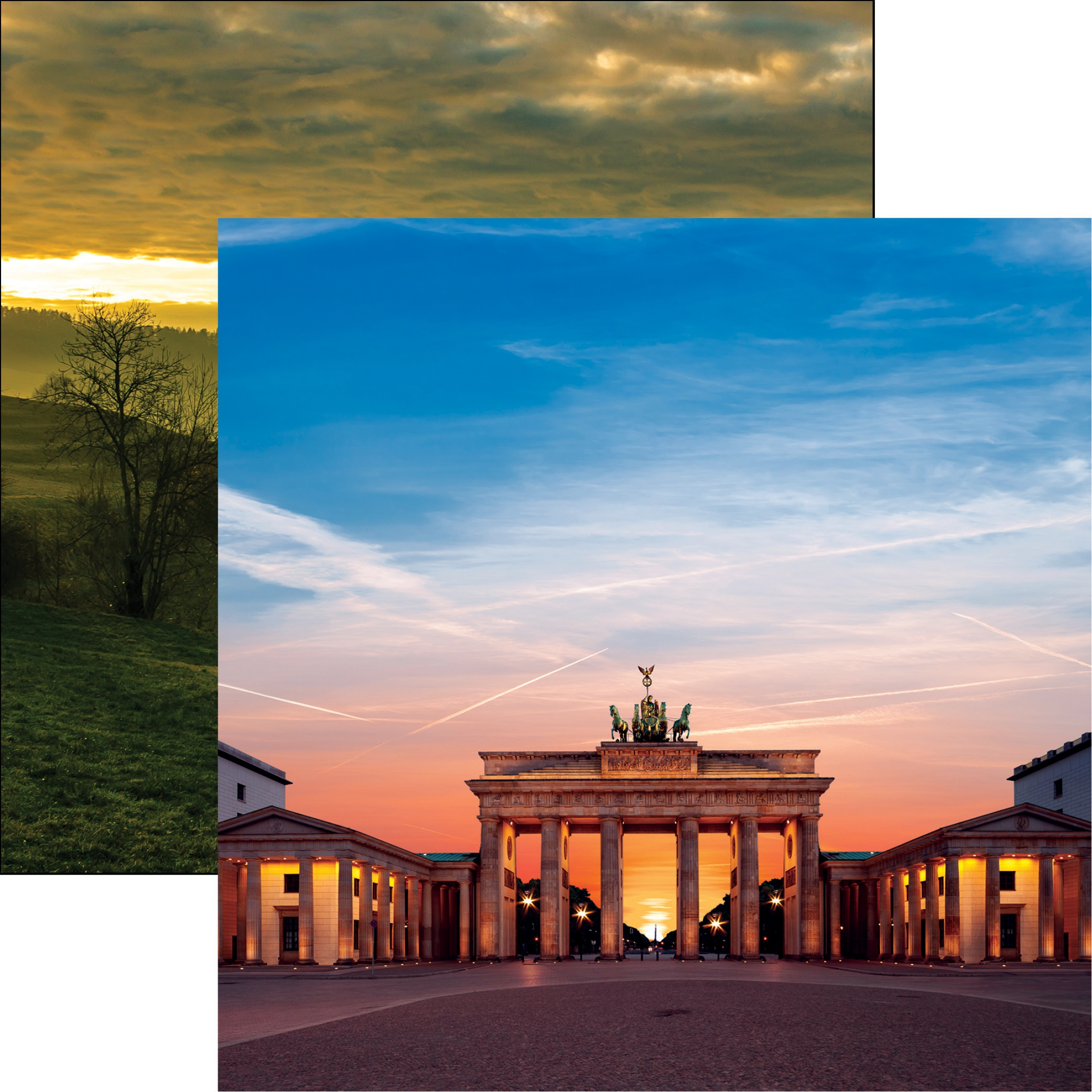 Germany Double-Sided Cardstock 12X12-Brandenburg Gate