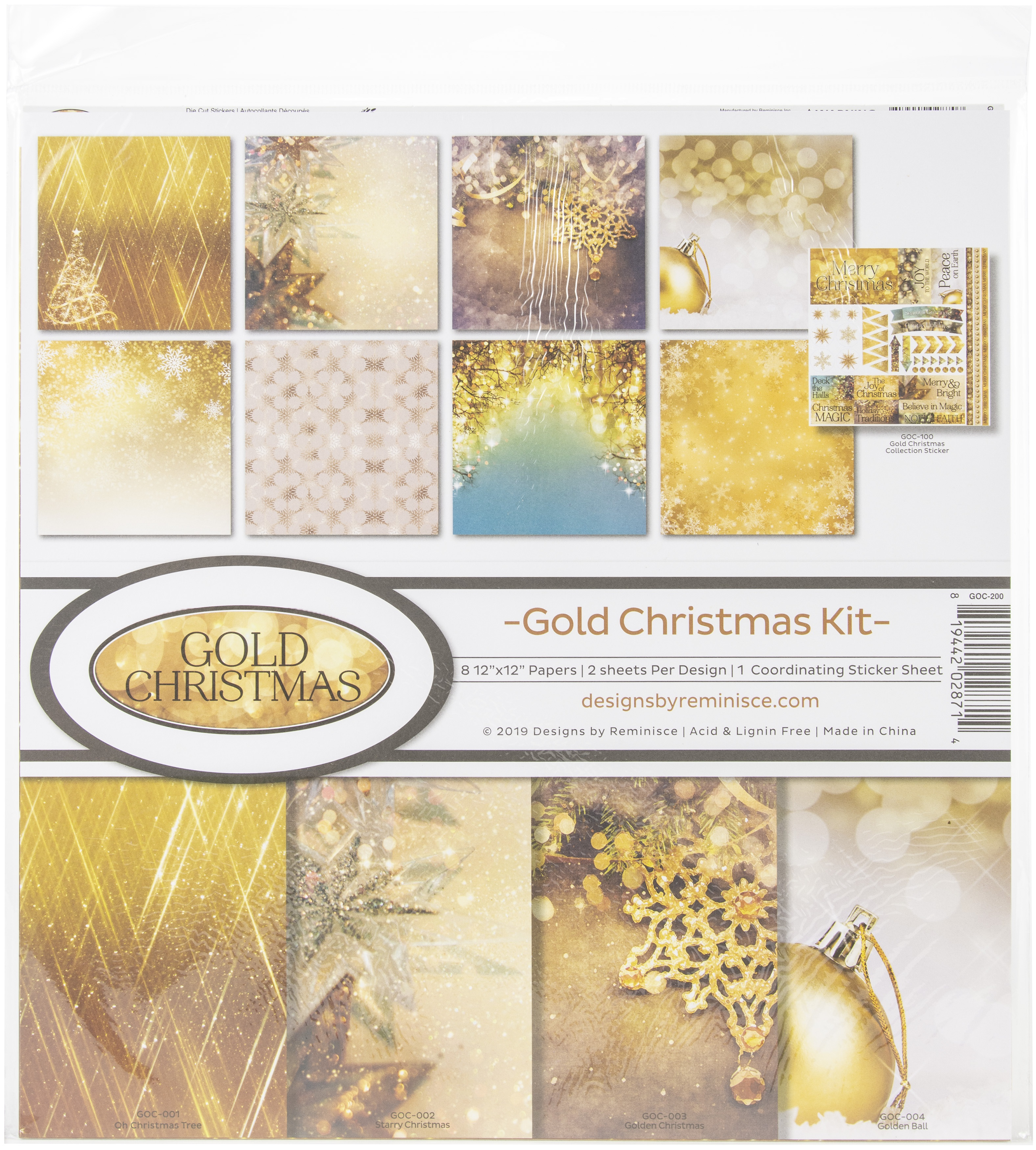 Gold Christmas Collection Kit