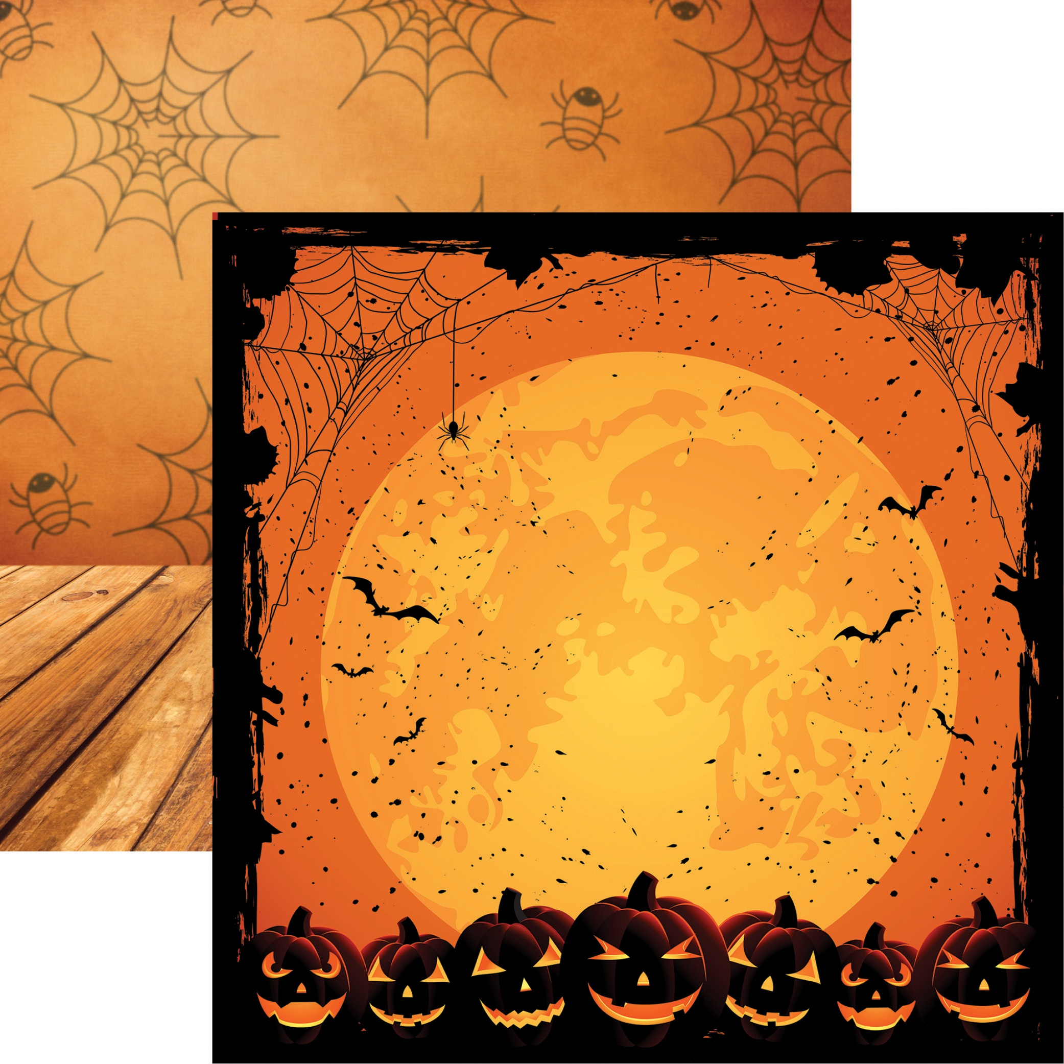 Halloween Night Full Moon Paper