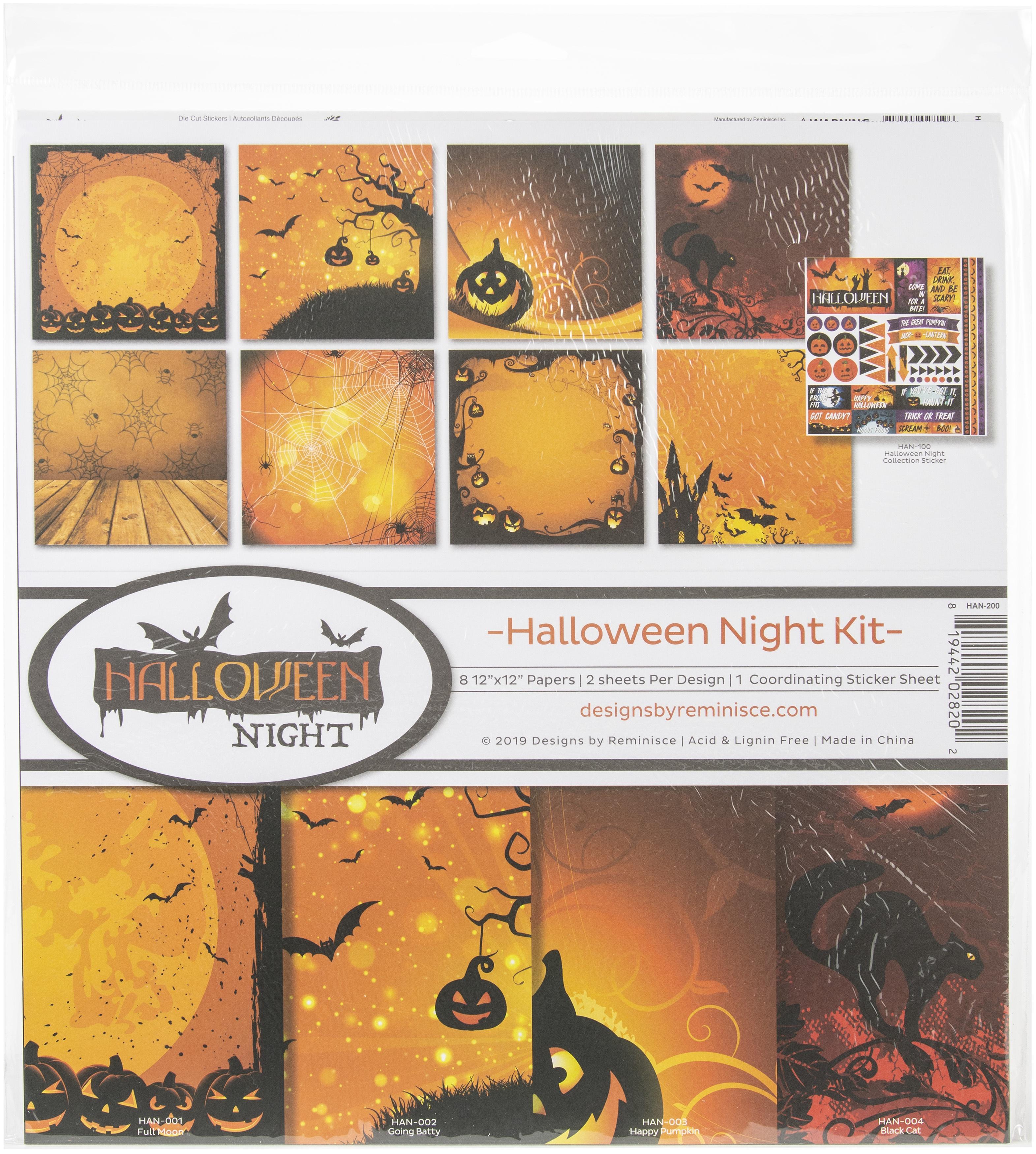 Reminisce Collection Kit 12X12-Halloween Night