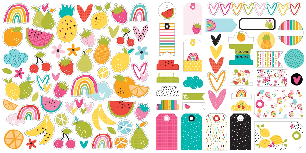 Bella Blvd Cardstock Ephemera-Icons, Squeeze The Day