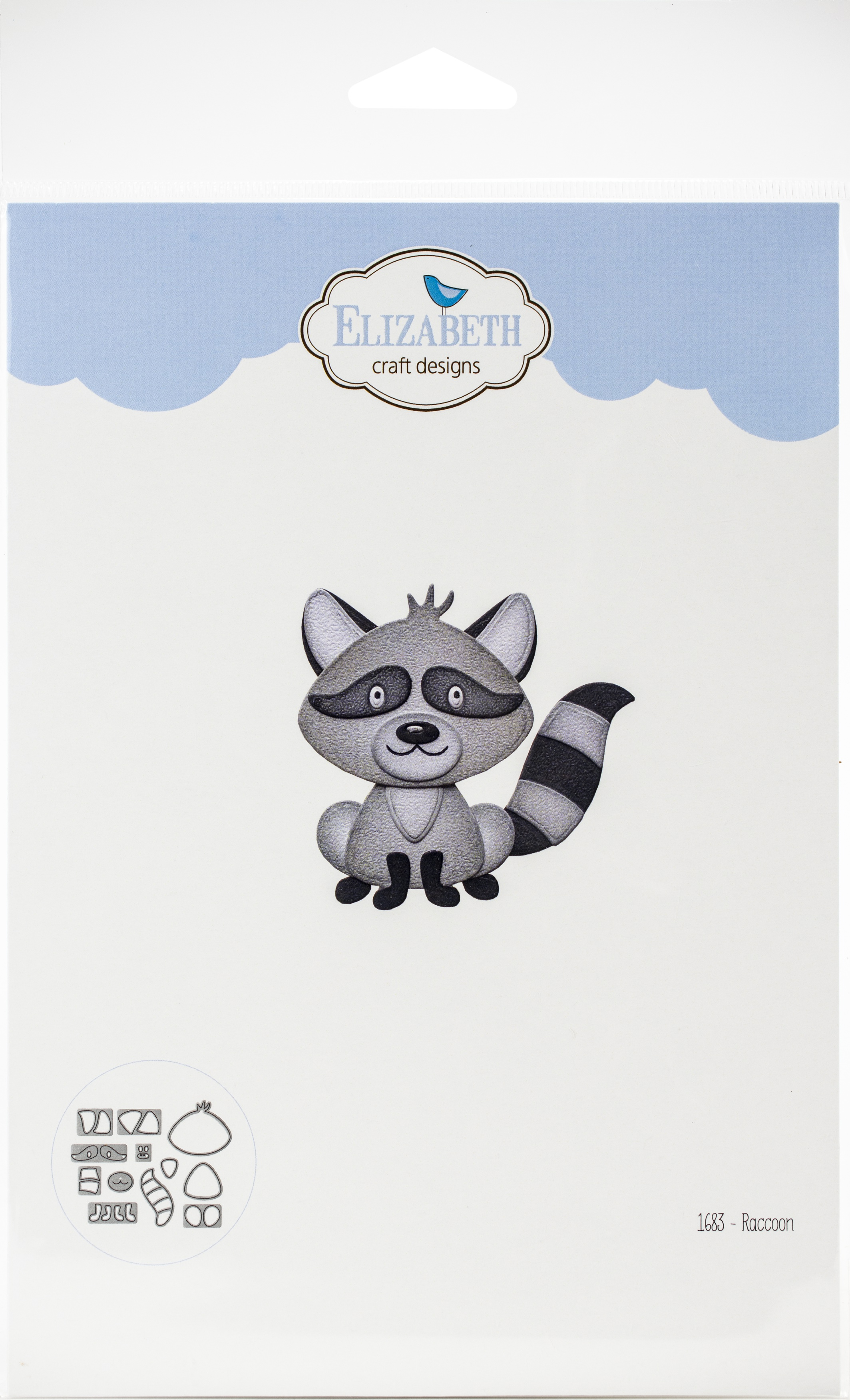 Elizabeth Craft Metal Die-Raccoon