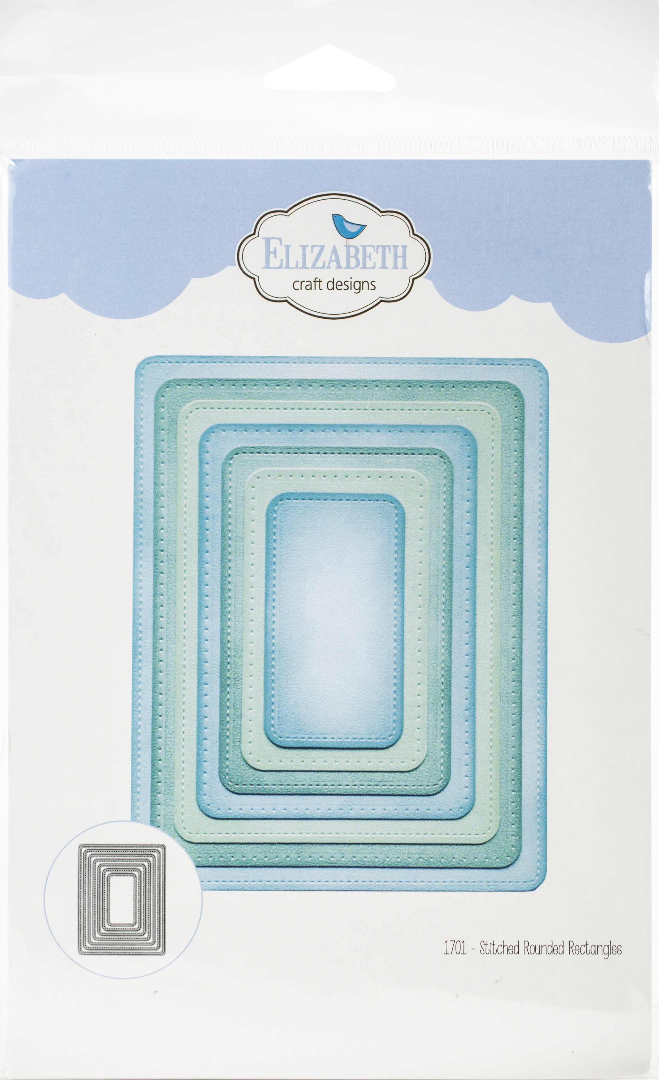 Elizabeth Craft Metal Die-Stitched Rounded Rectangle