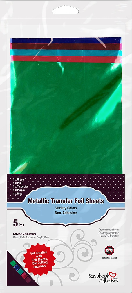 Scrapbook Adhesives Transfer Foil Sheets 6X12-Metallic