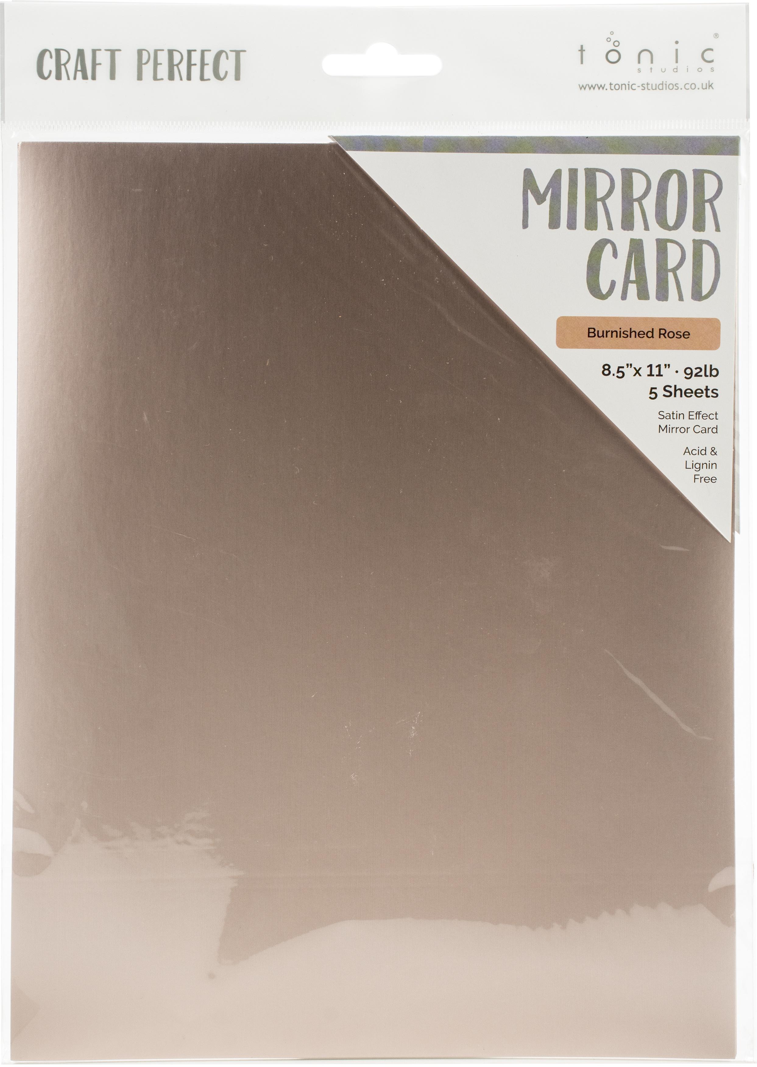 Mirror Cardstock Burnished Rose