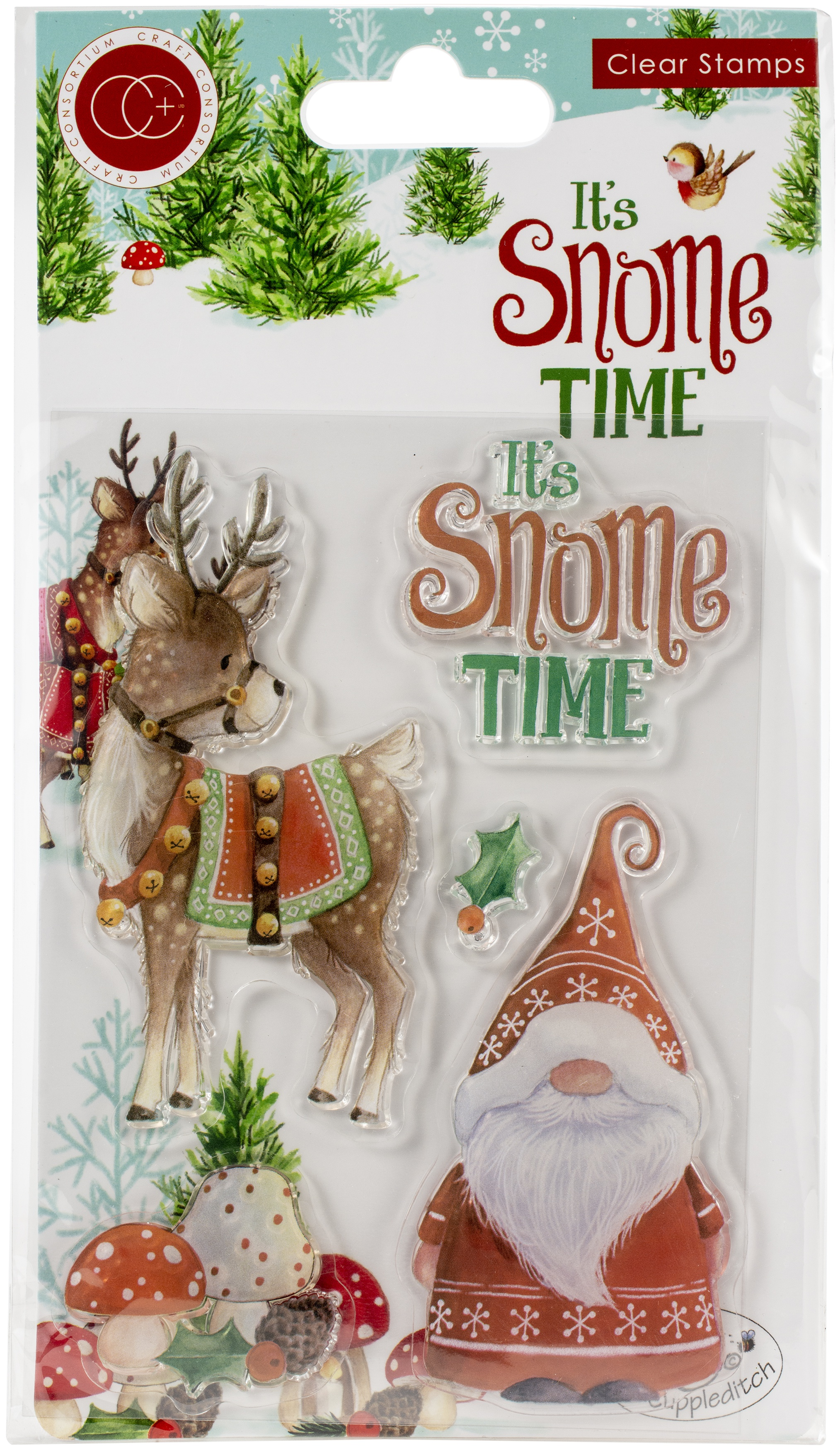 Craft Consortium A5 Clear Stamps-It's Snome Time