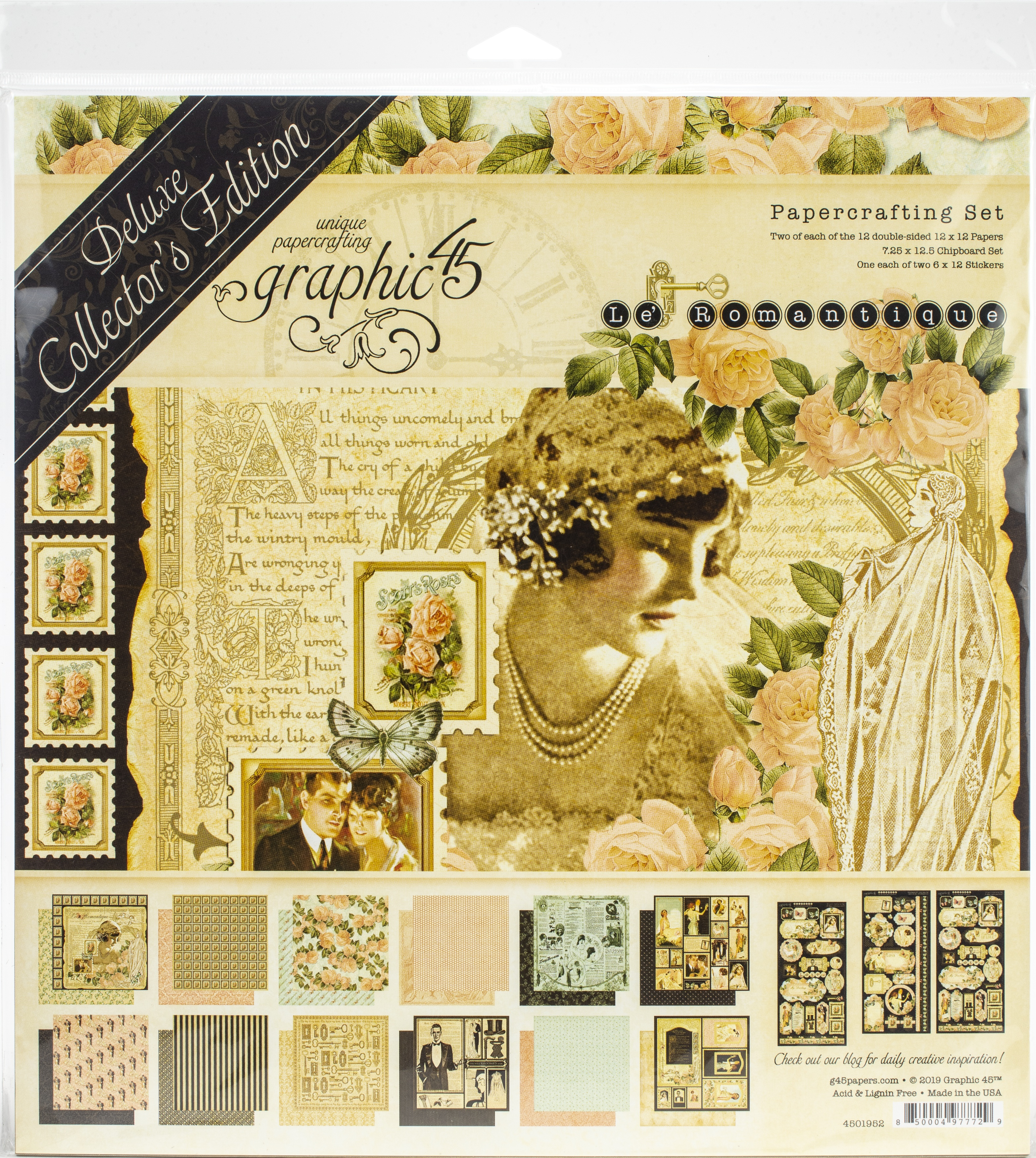 Graphic 45 Deluxe Collector's Edition Pack 12X12-Le Romantique