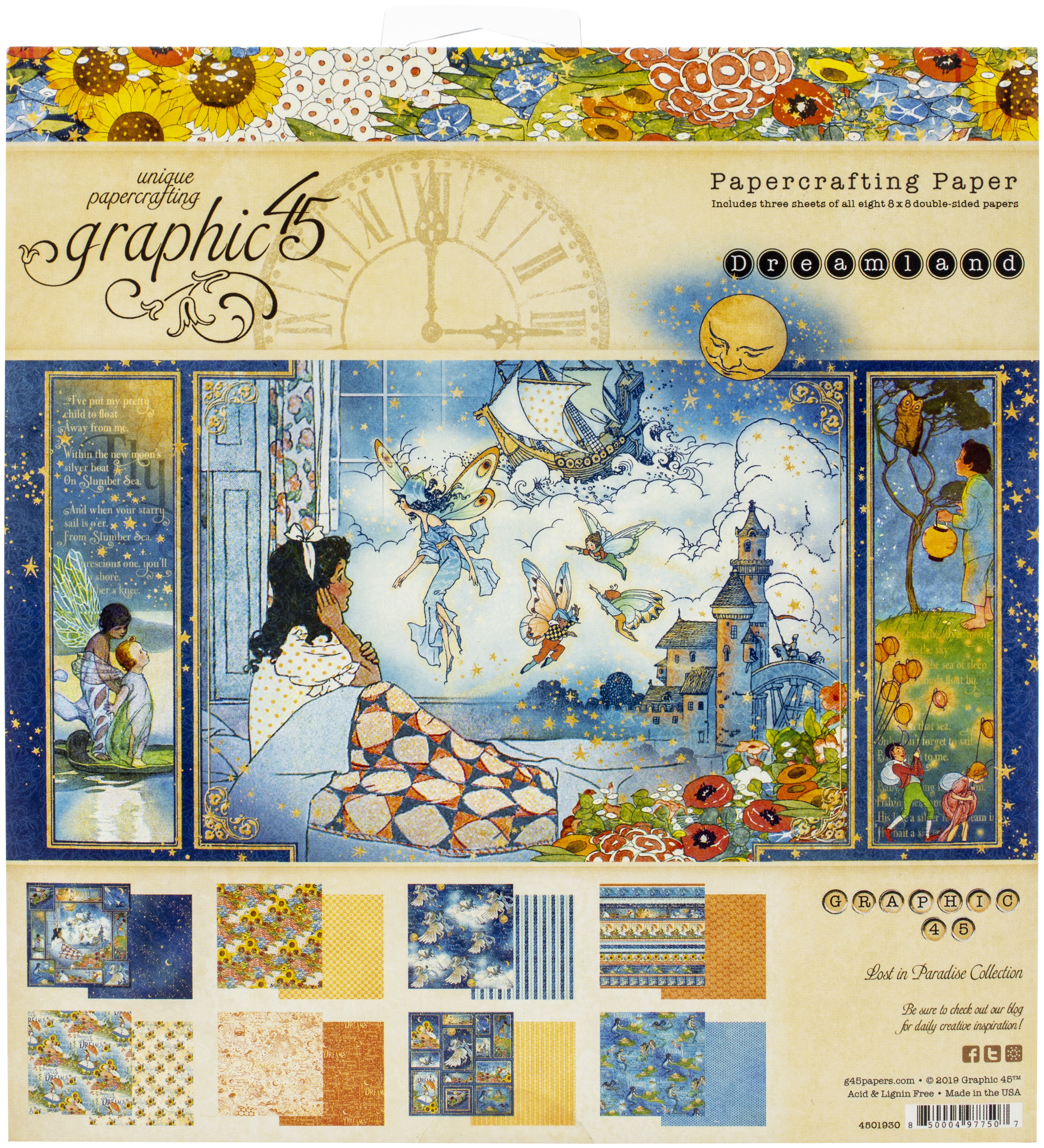 Graphic 45 Double-Sided Paper Pad 8X8 24/Pkg-Dreamland, 8 Designs/3 Each
