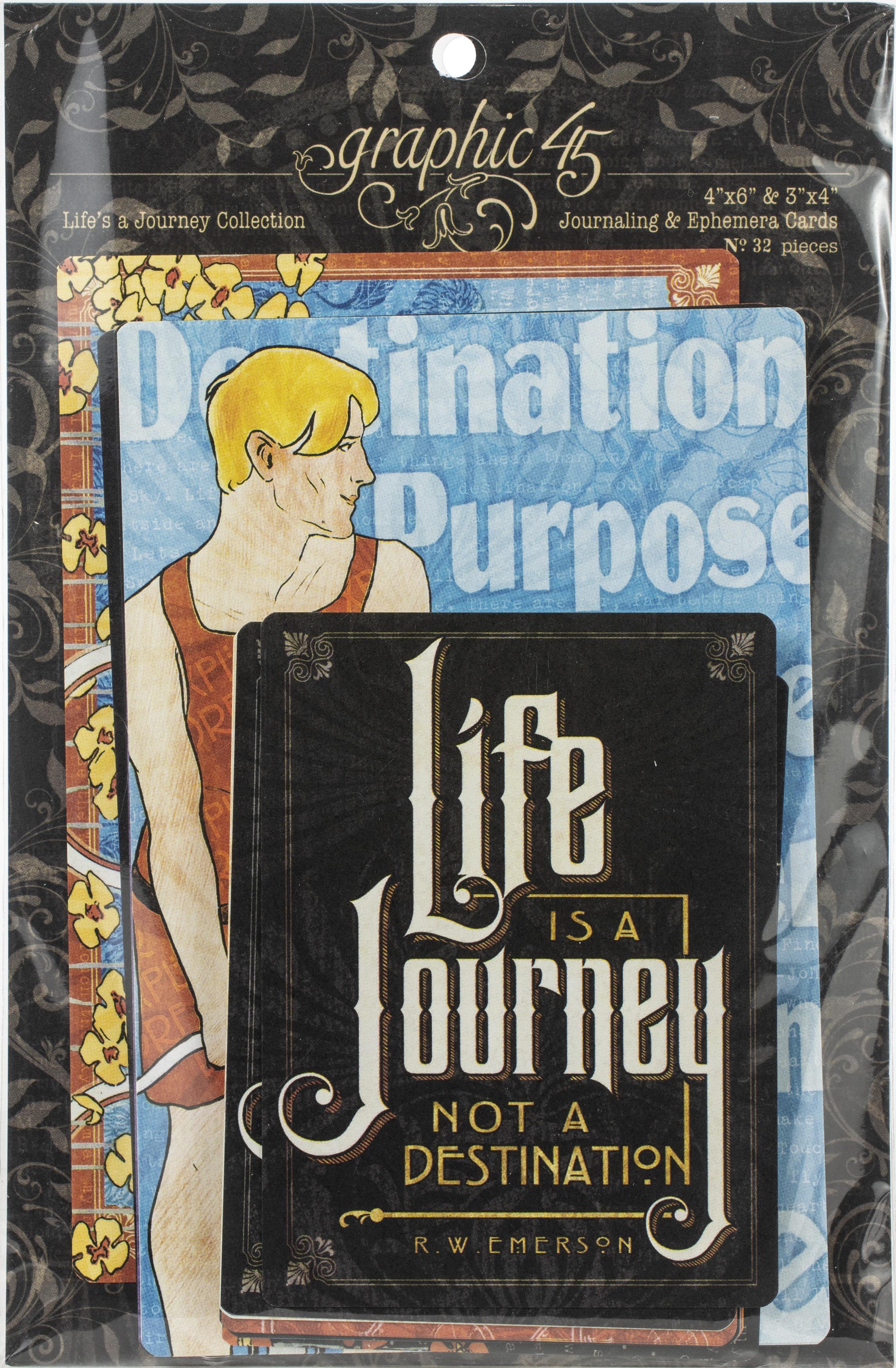 G45 Life's a Journey Journaling & ephemera cards