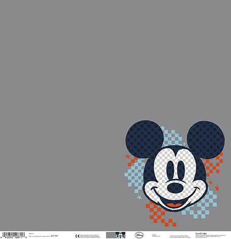 Mickey Gray Grid Paper