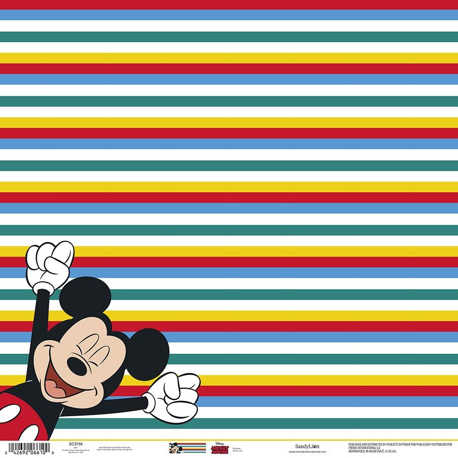 Disney Single-Sided Paper 12X12-Mickey Cheering