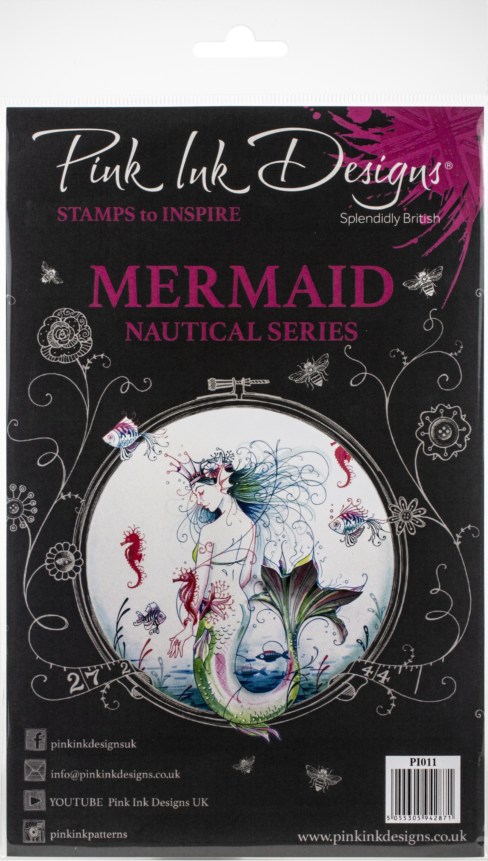 Pink Ink Designs A5 Clear Stamp Set-Mermaid
