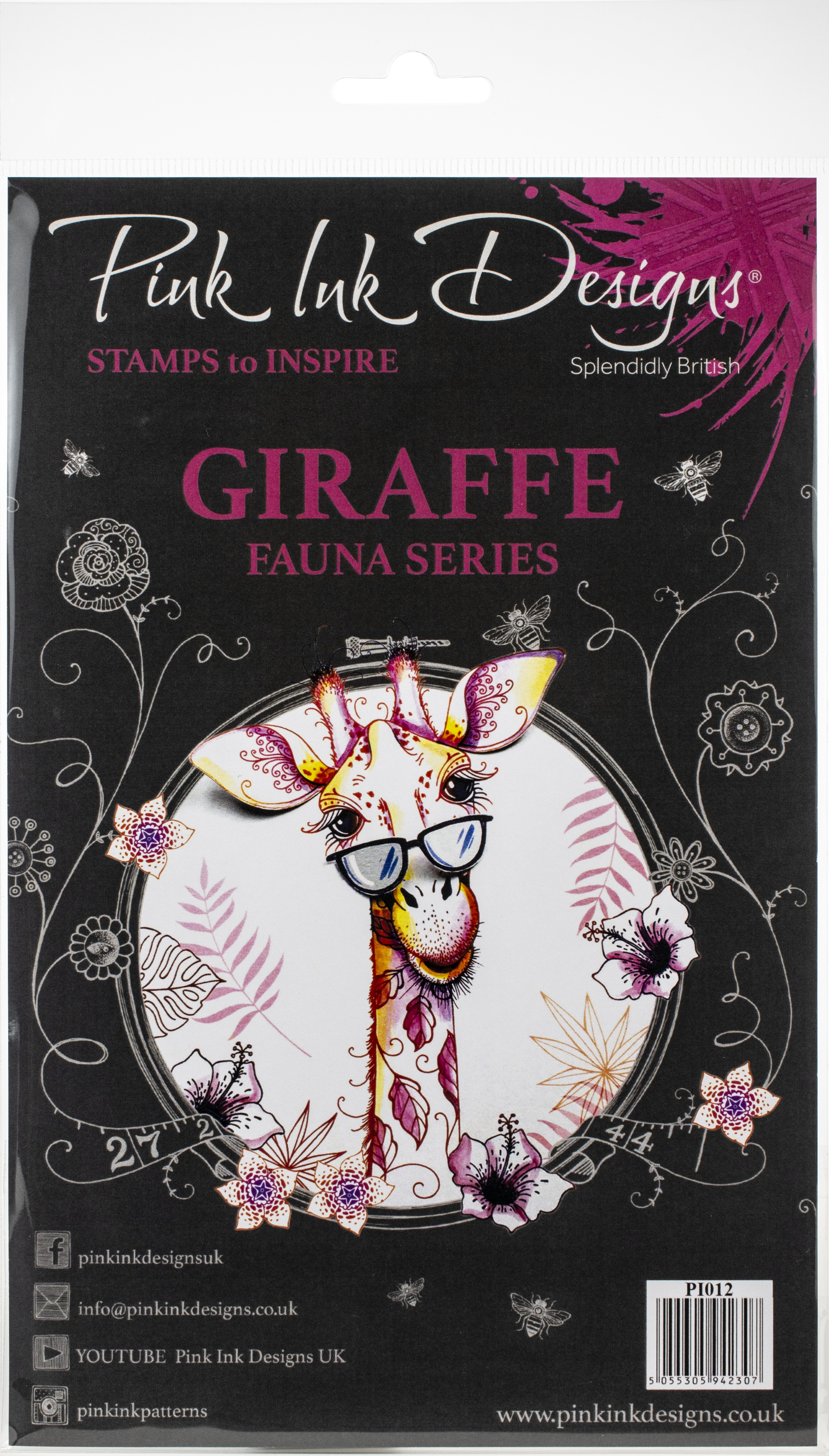 Pink Ink Designs A5 Clear Stamp Set-Giraffe