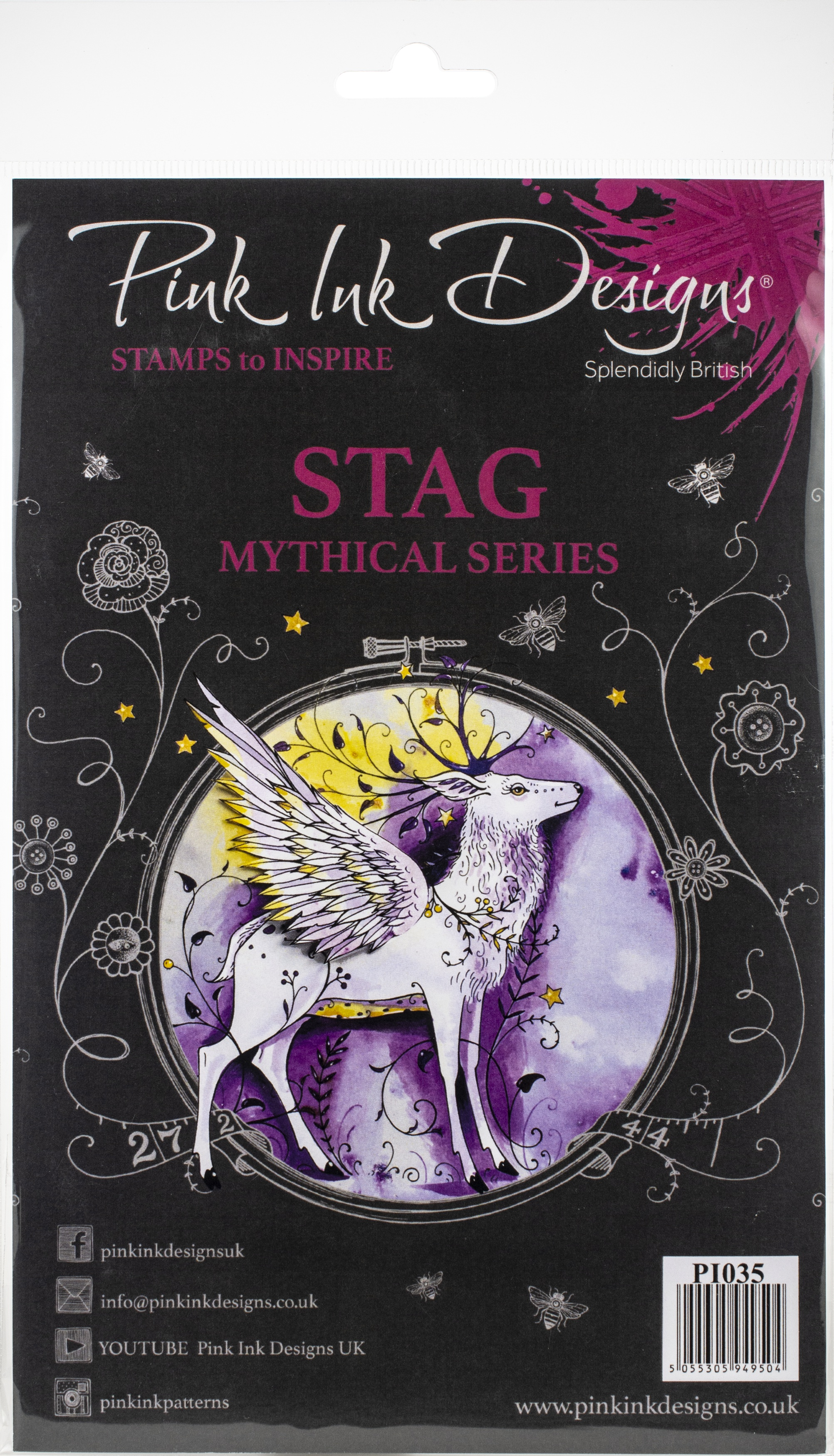 Pink Ink Designs A5 Clear Stamp Set-Stag