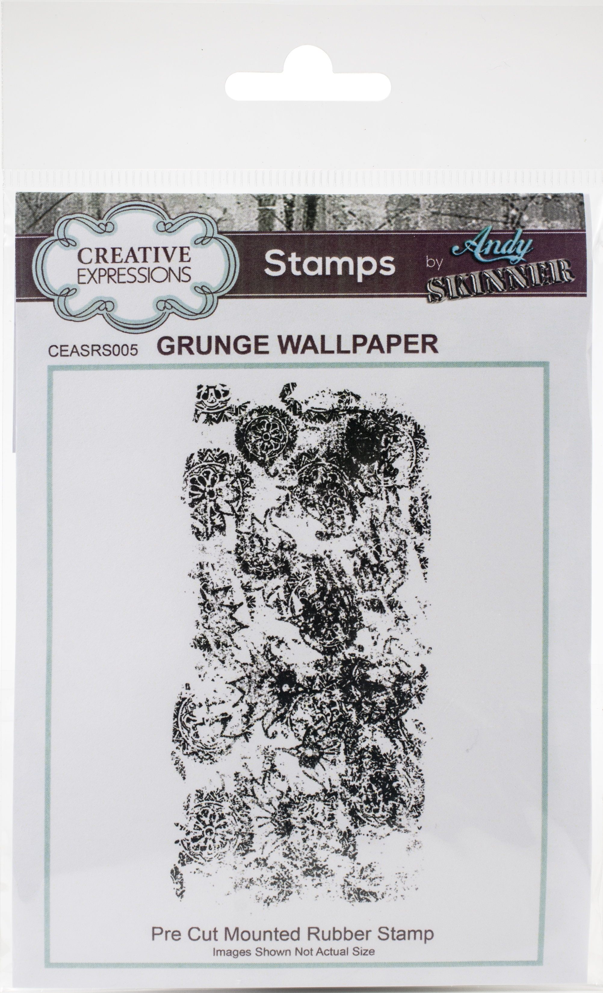 Creative Expressions Rubber Stamp By Andy Skinner-Grunge Wallpaper