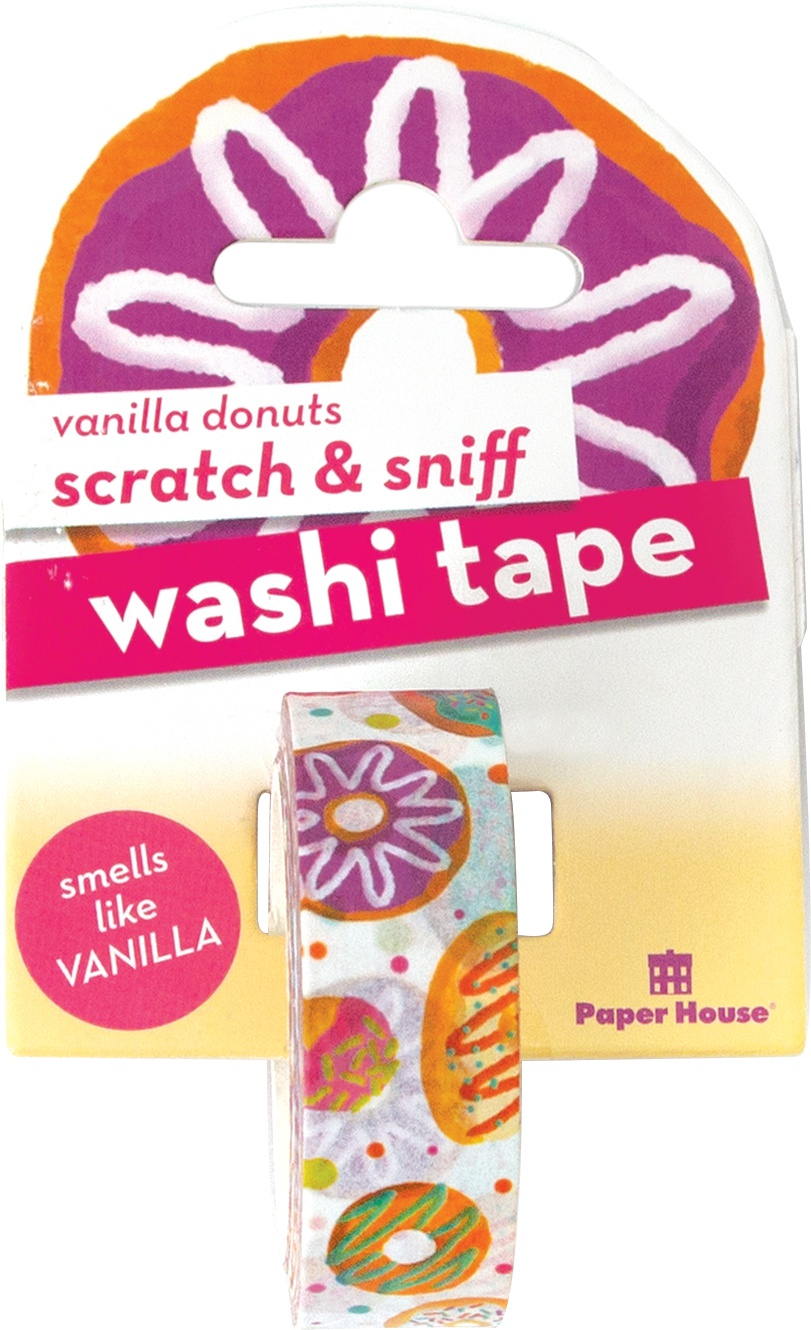 Paper House Scratch & Sniff Washi Tape-Vanilla Donuts, 15mmX8m