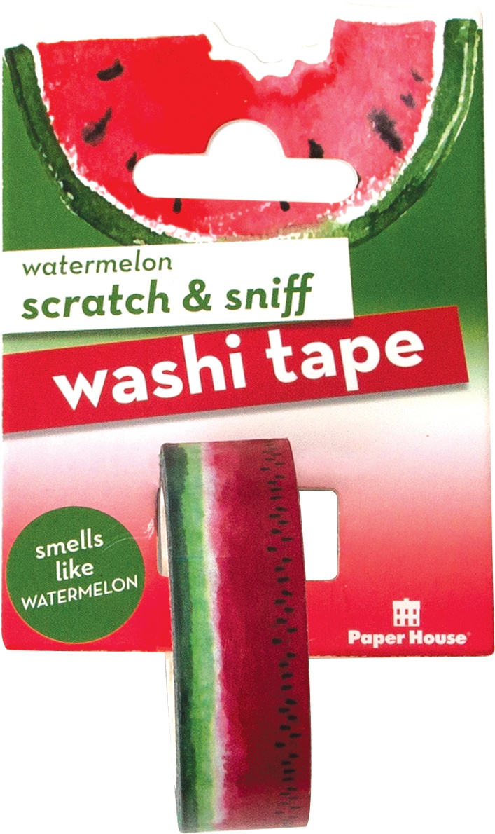Paper House Scratch & Sniff Washi Tape-Watermelon, 15mmX8m