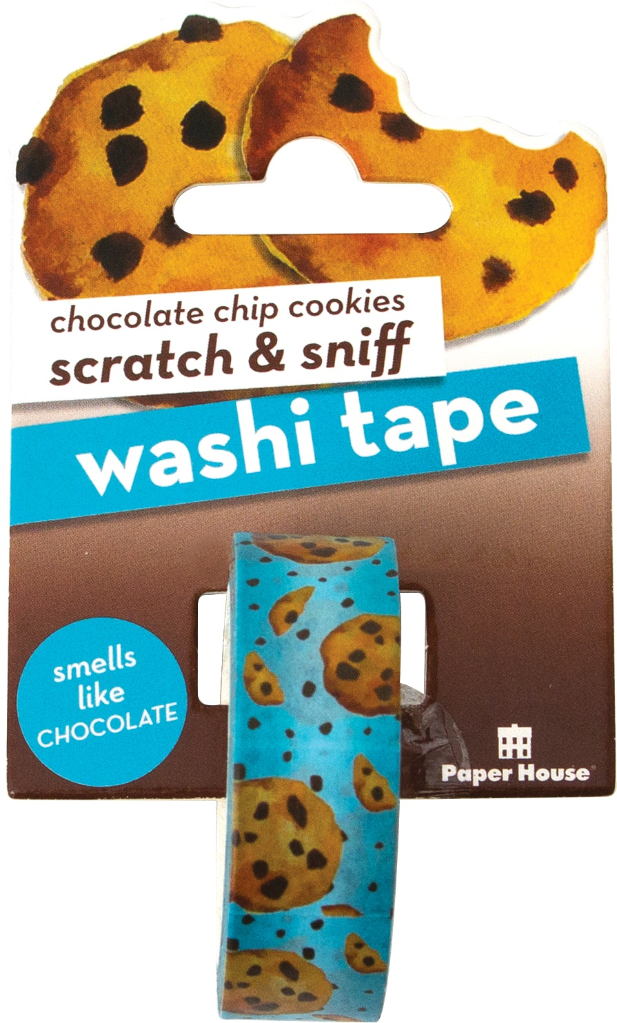 Paper House Scratch & Sniff Washi Tape-Chocolate Chip Cookies, 15mmX8m