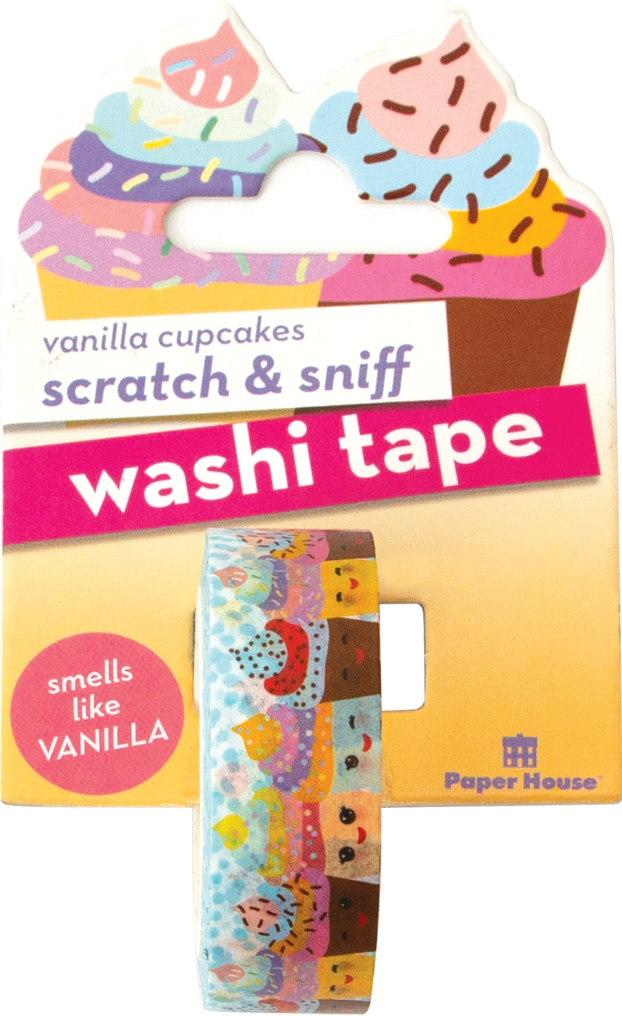 Paper House Scratch & Sniff Washi Tape-Vanilla Cupcakes, 15mmX8m