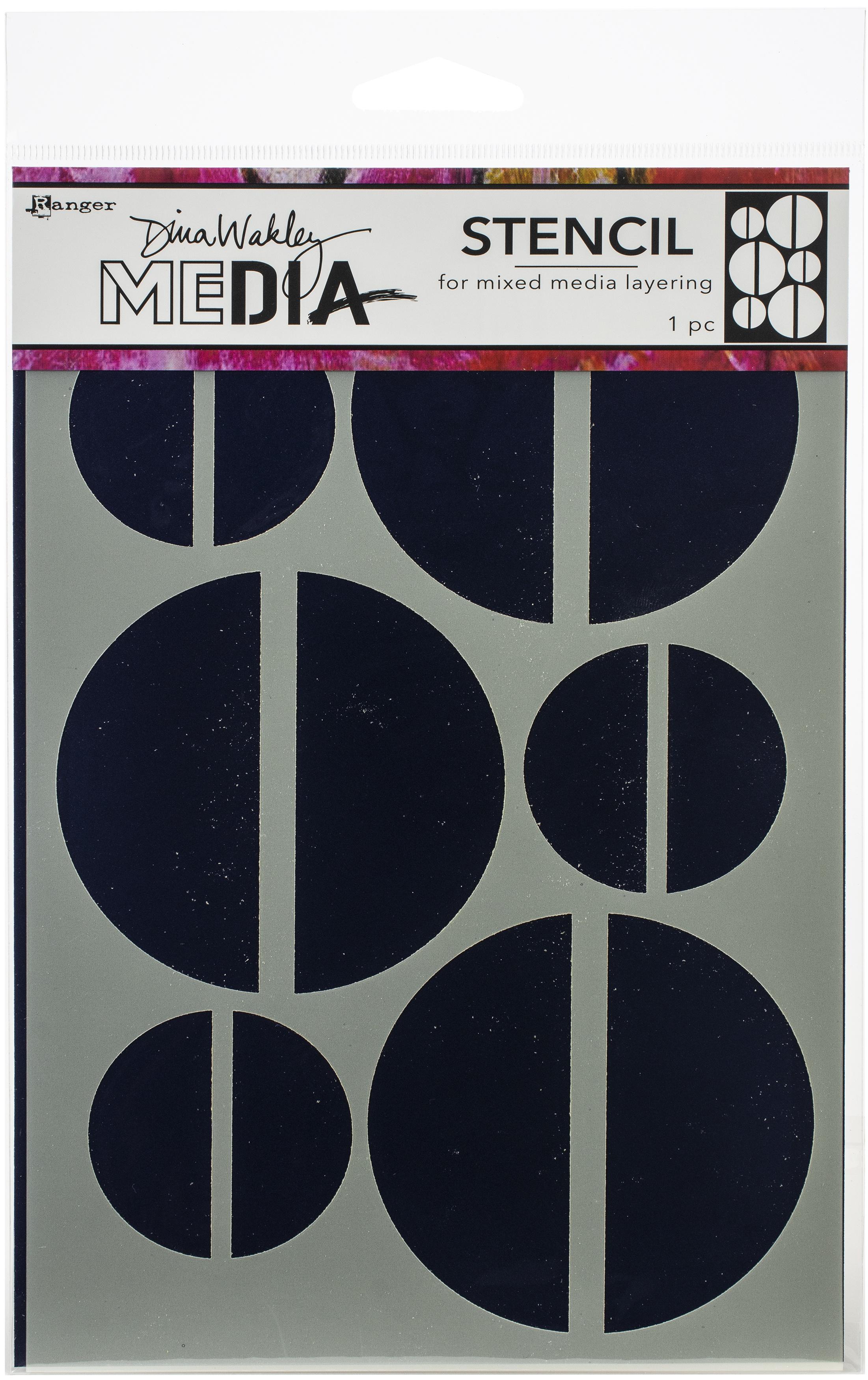 Dina Wakley Media Stencils 9X6-Large Halves