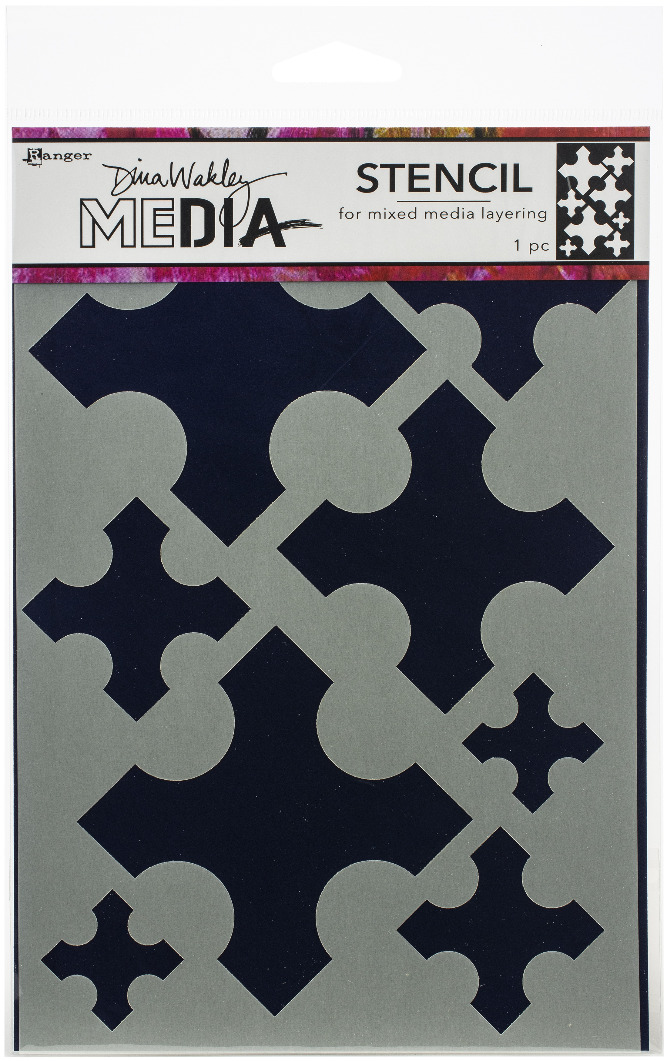 Dina Wakley Media Stencils 9X6-Large Medieval Crosses
