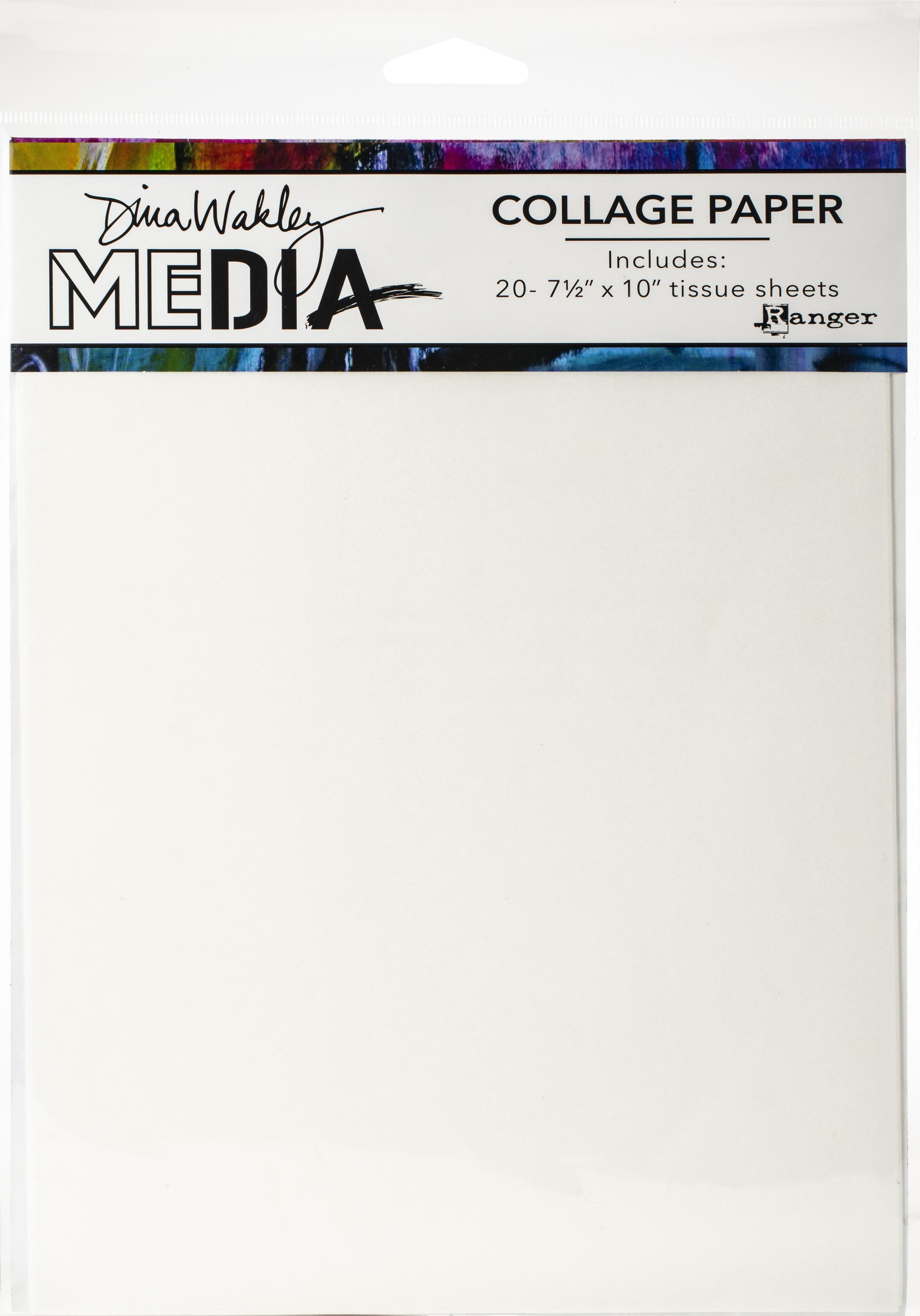 Dina Wakley Media Collage Tissue Paper 7.5X10 20/Pkg-Plain